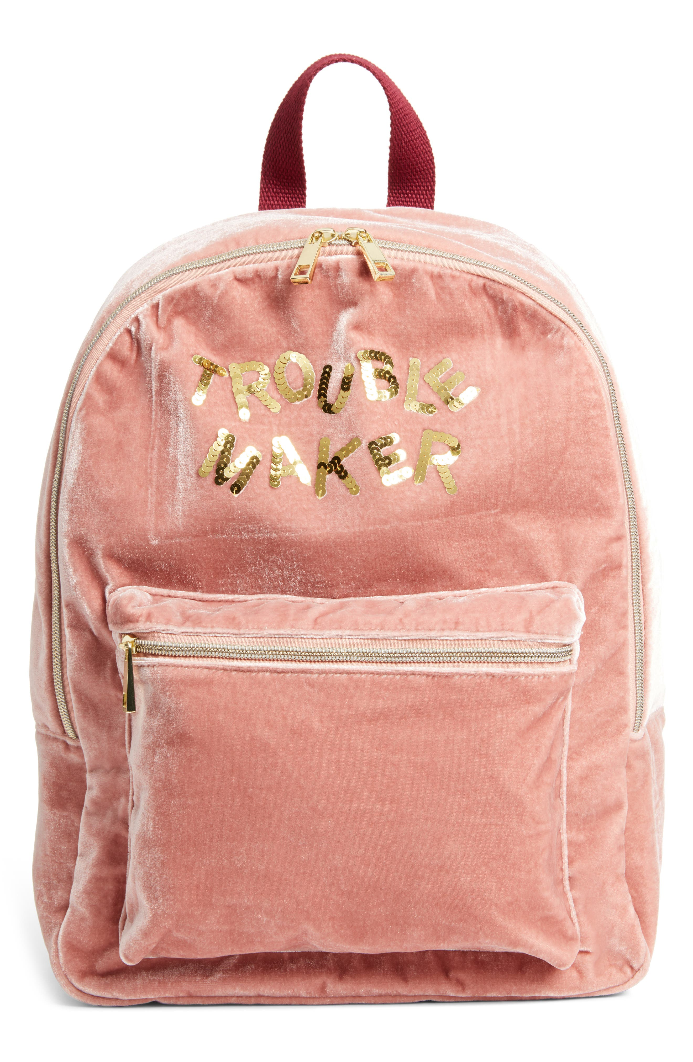Trouble Maker Backpack,                         Main,                         color, Blush