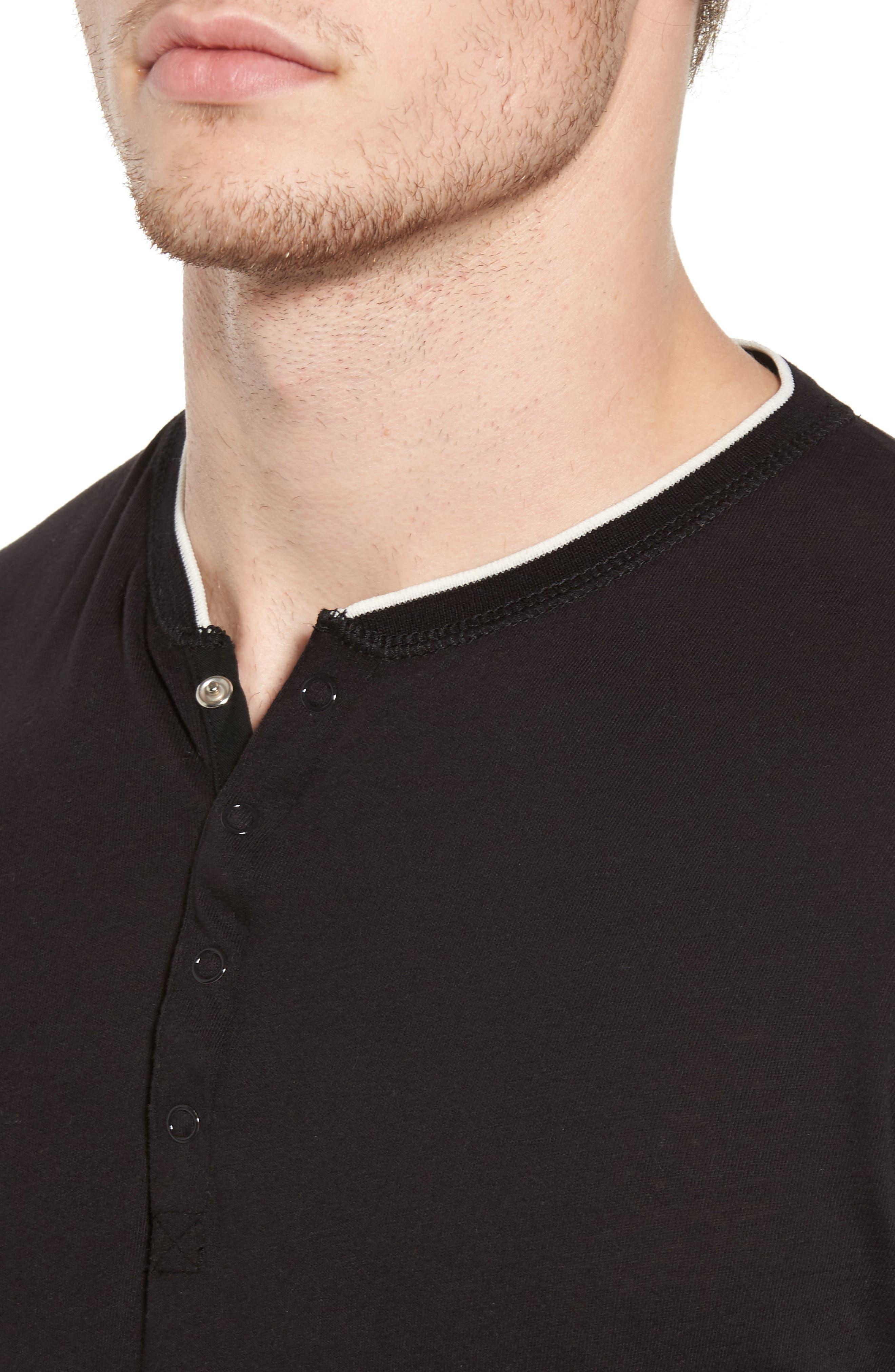Alternate Image 4  - Scotch & Soda Club Nomade Soft Granddad T-Shirt