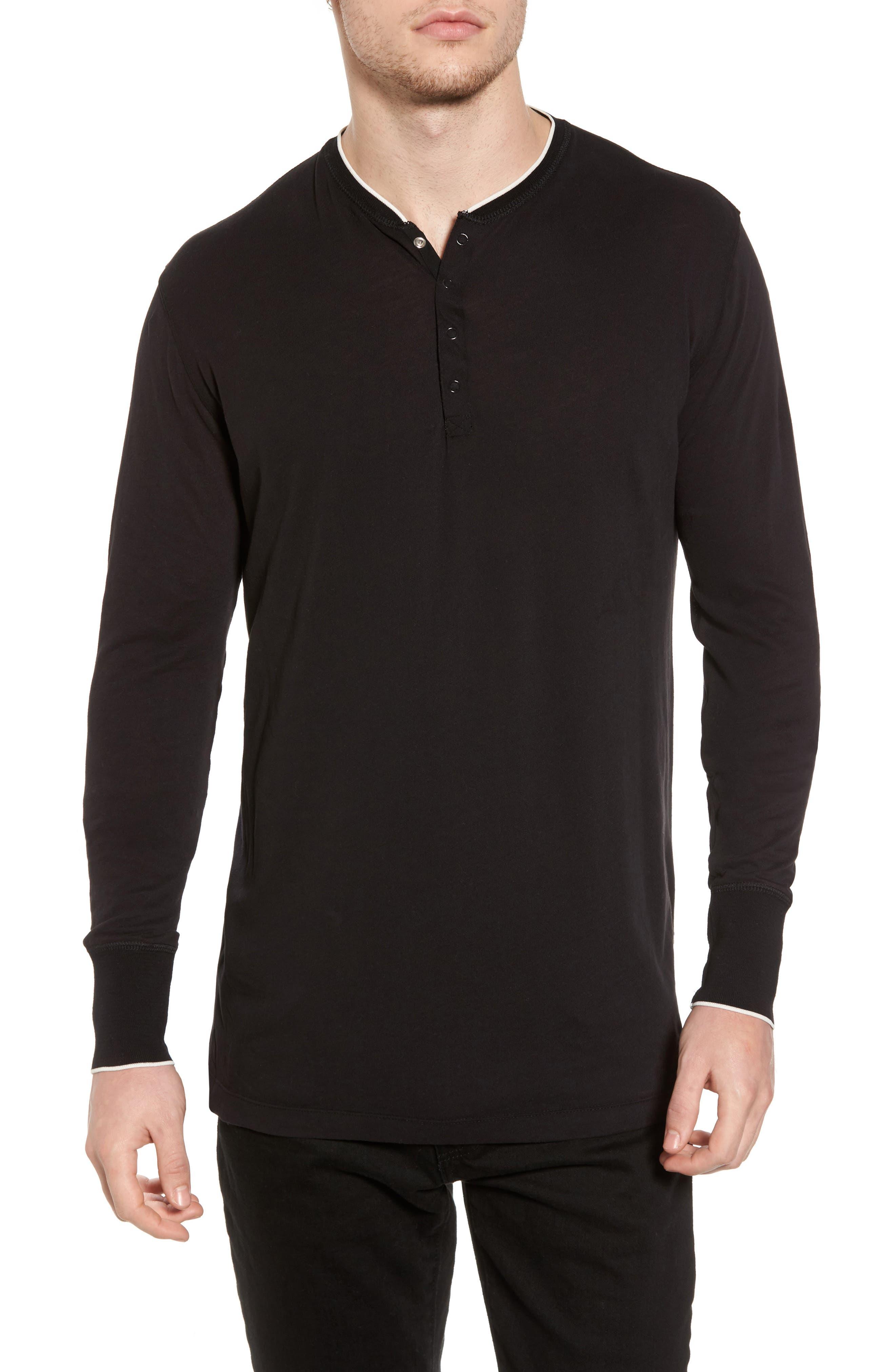 Club Nomade Soft Granddad T-Shirt,                         Main,                         color, Black