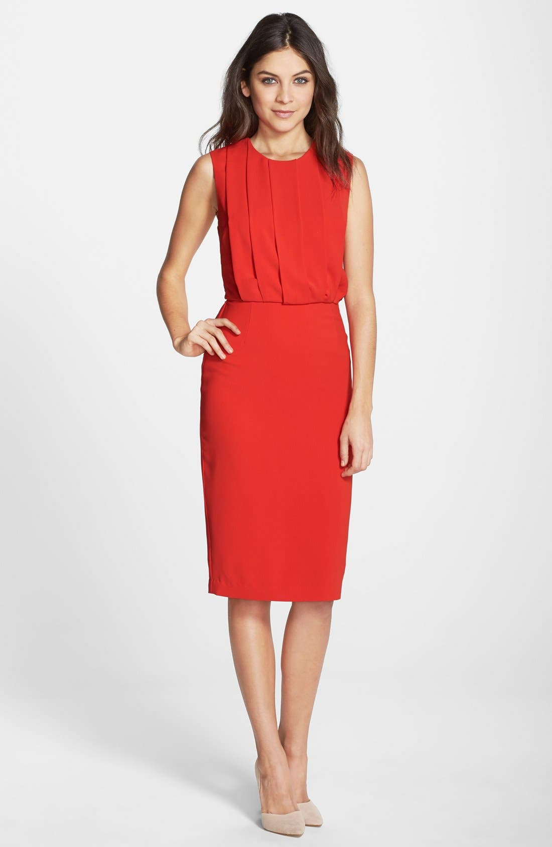 Alternate Image 3  - Clove Back Cutout Pleated Blouson Dress (Nordstrom Exclusive)