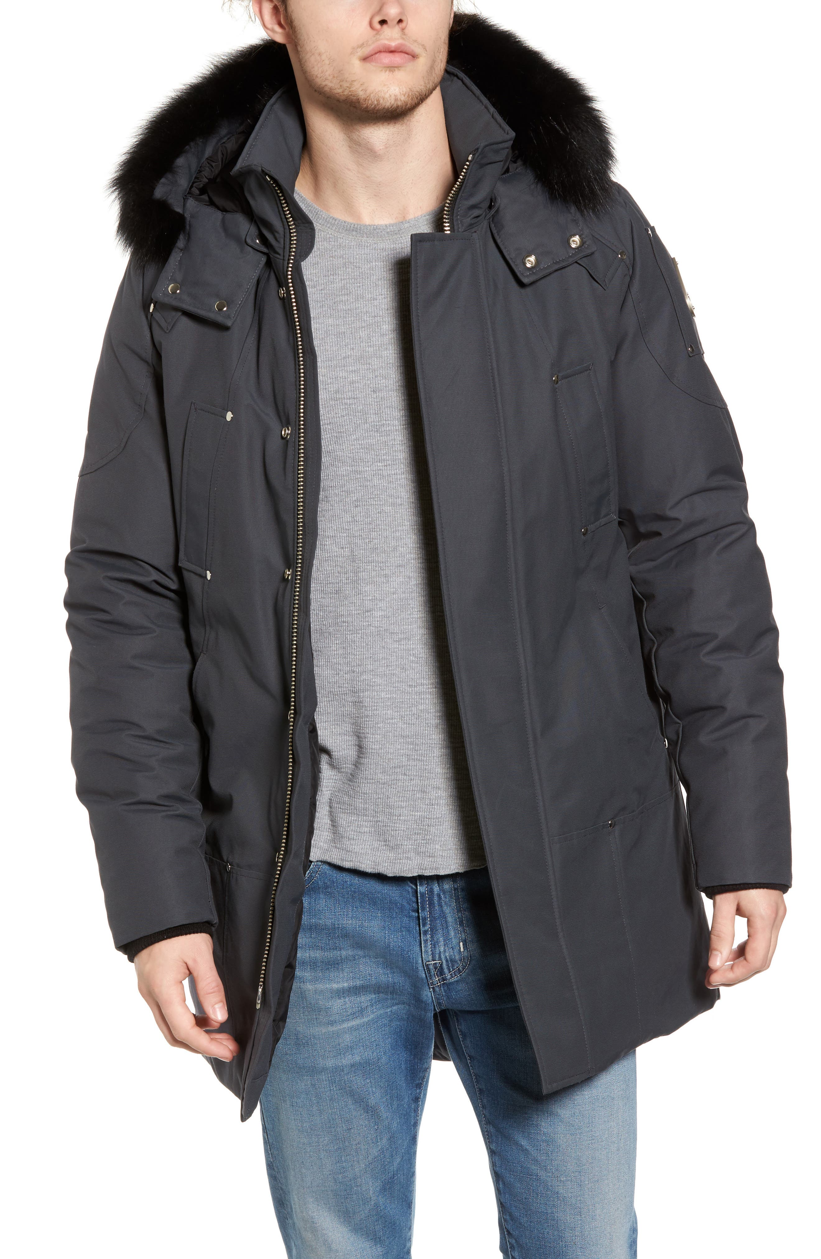 Alternate Image 1 Selected - Moose Knuckles Stirling Water Repellent Down Parka with Genuine Fox Fur Trim