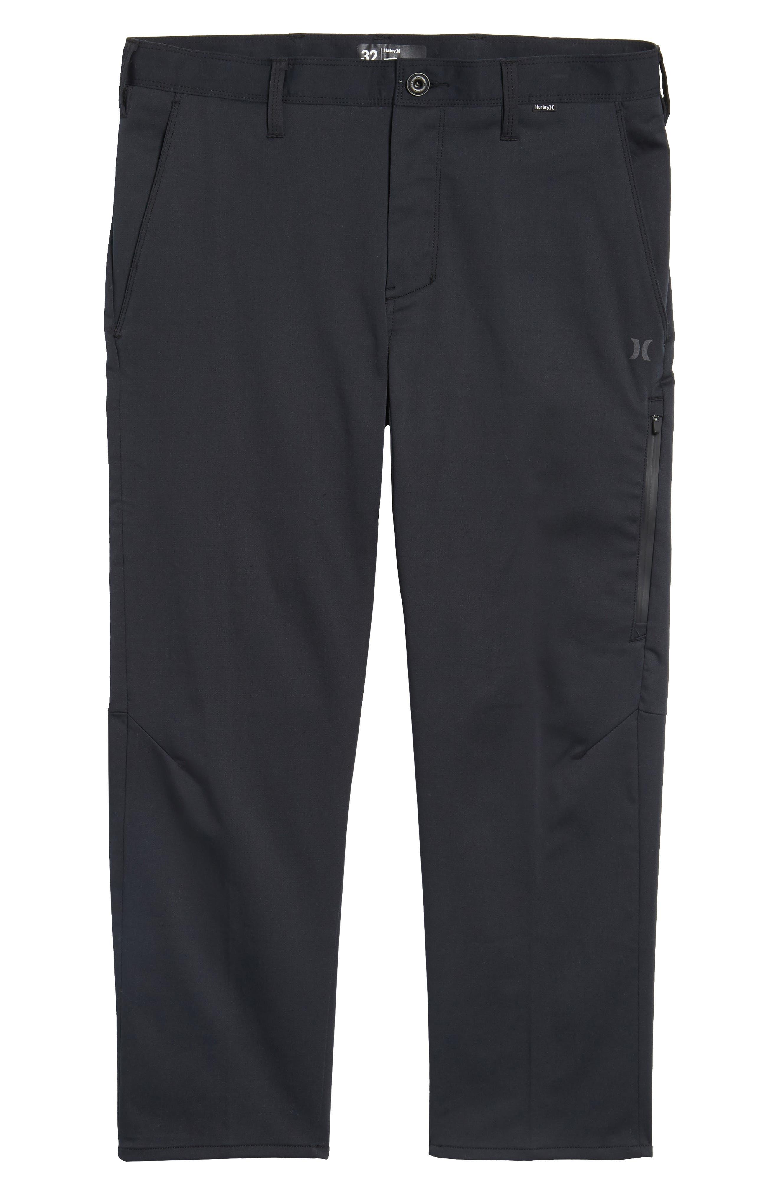 Covert Slim Fit Crop Pants,                             Alternate thumbnail 6, color,                             Black