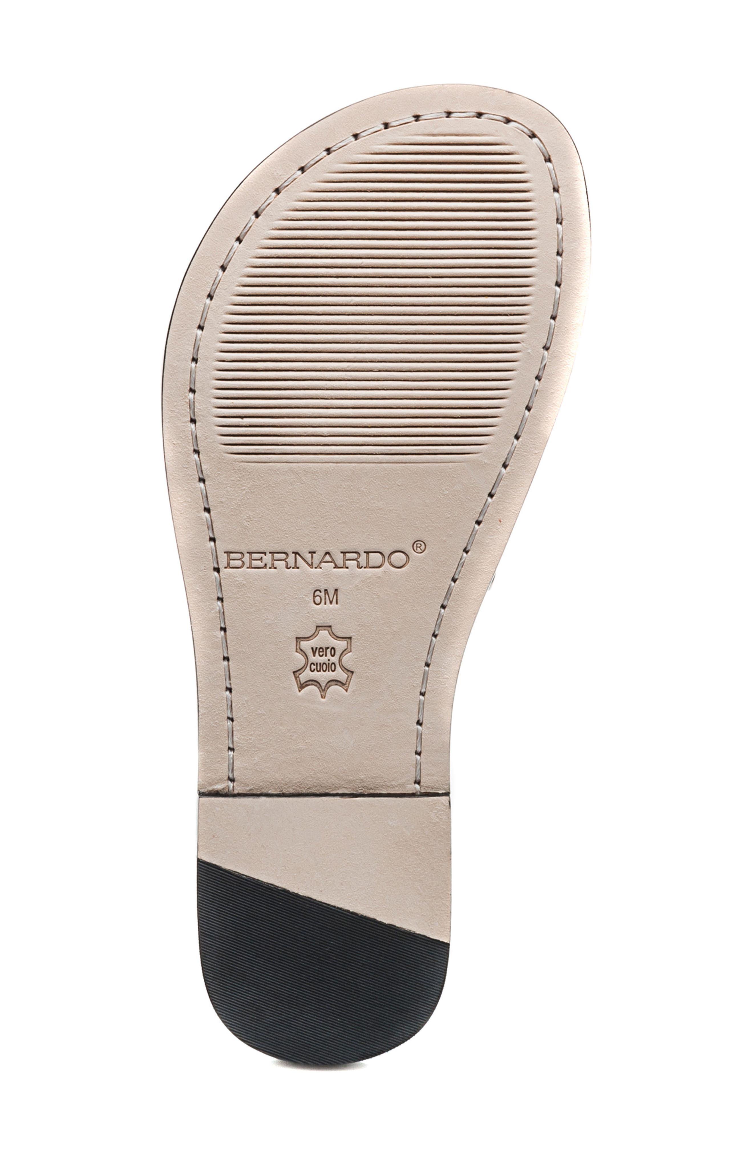Bernardo Maisa Sandal,                             Alternate thumbnail 6, color,                             Black Leather