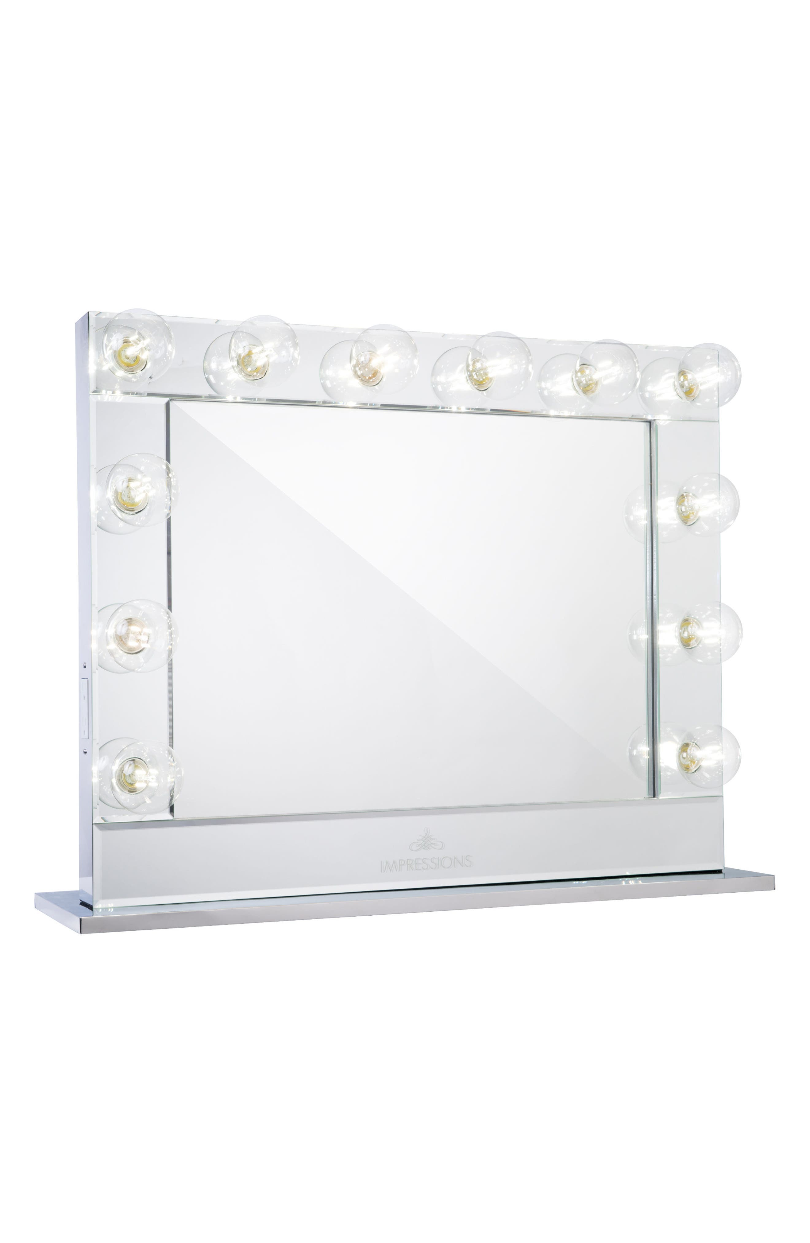 Reflection Plus Vanity Mirror,                         Main,                         color, Clear