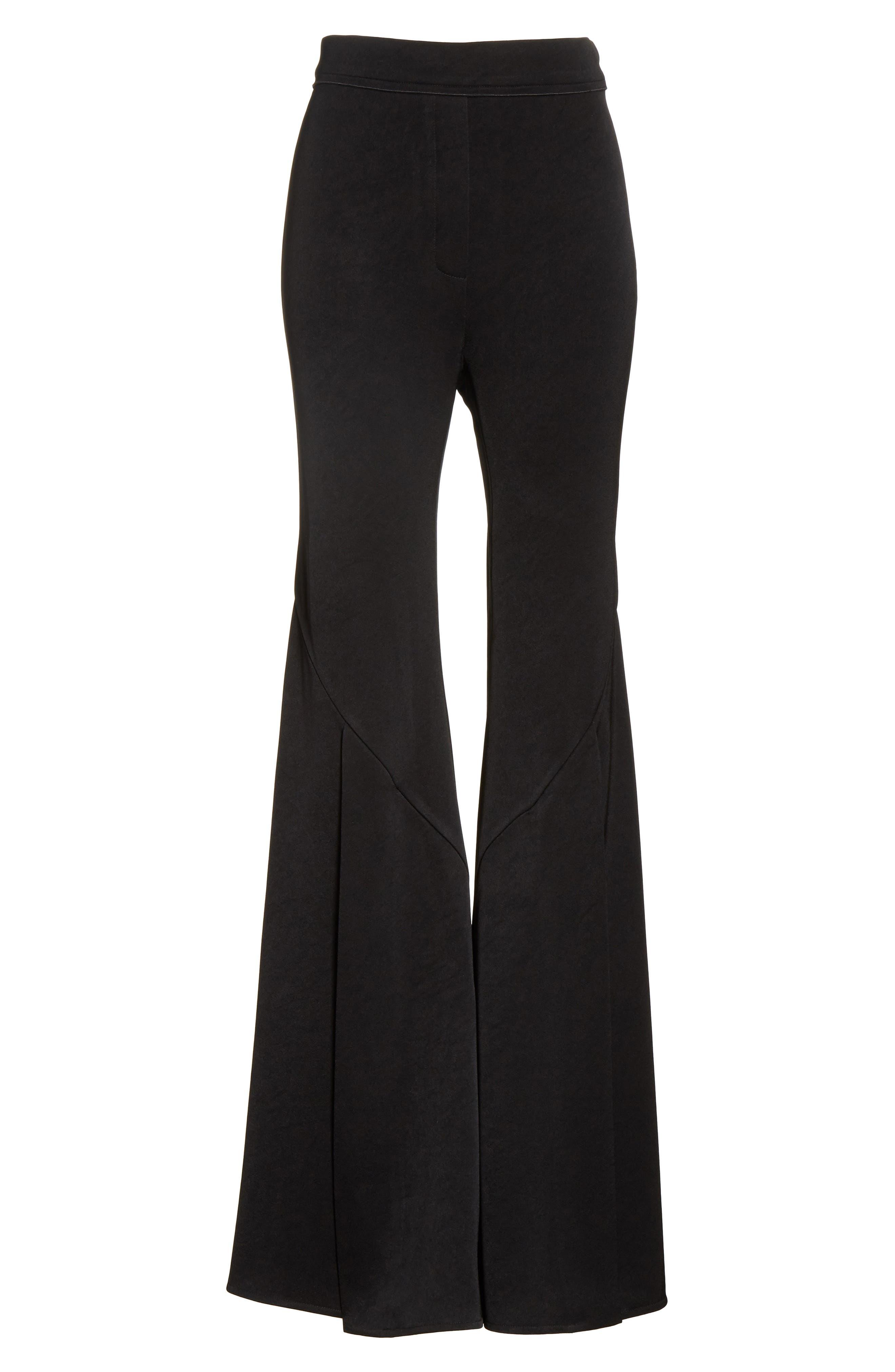 Higher & Higher Wide Flare Leg Pants,                             Alternate thumbnail 6, color,                             Black
