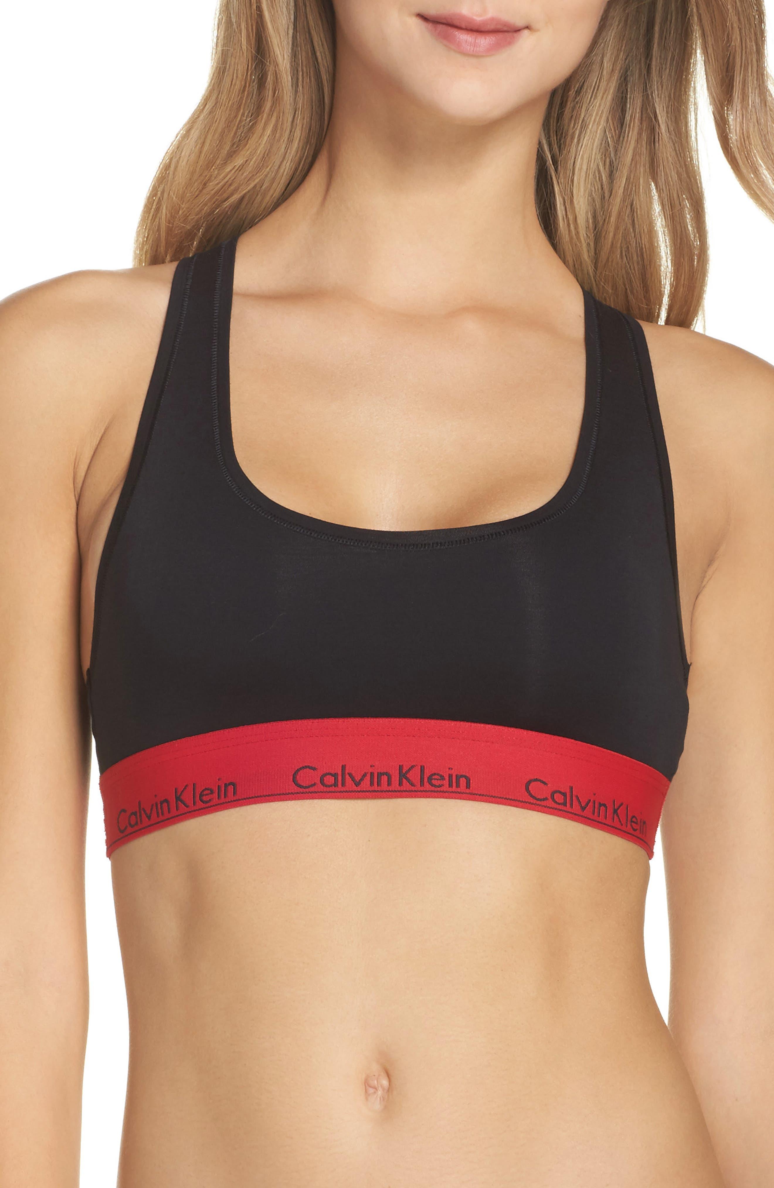 Calvin Klein Modern Cotton Collection Cotton Blend Racerback Bralette