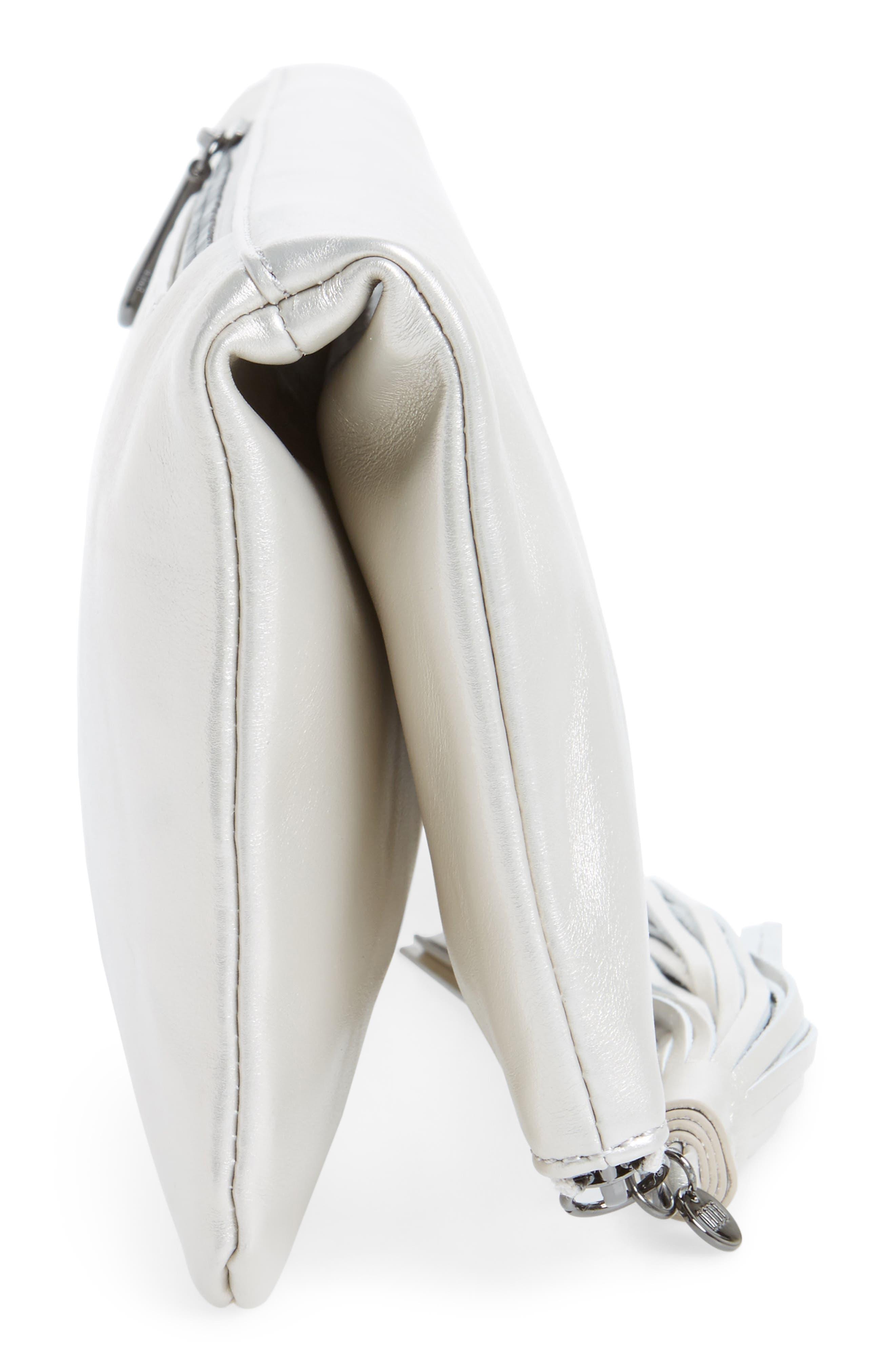 Alternate Image 5  - Hobo Raine Calfskin Leather Foldover Clutch