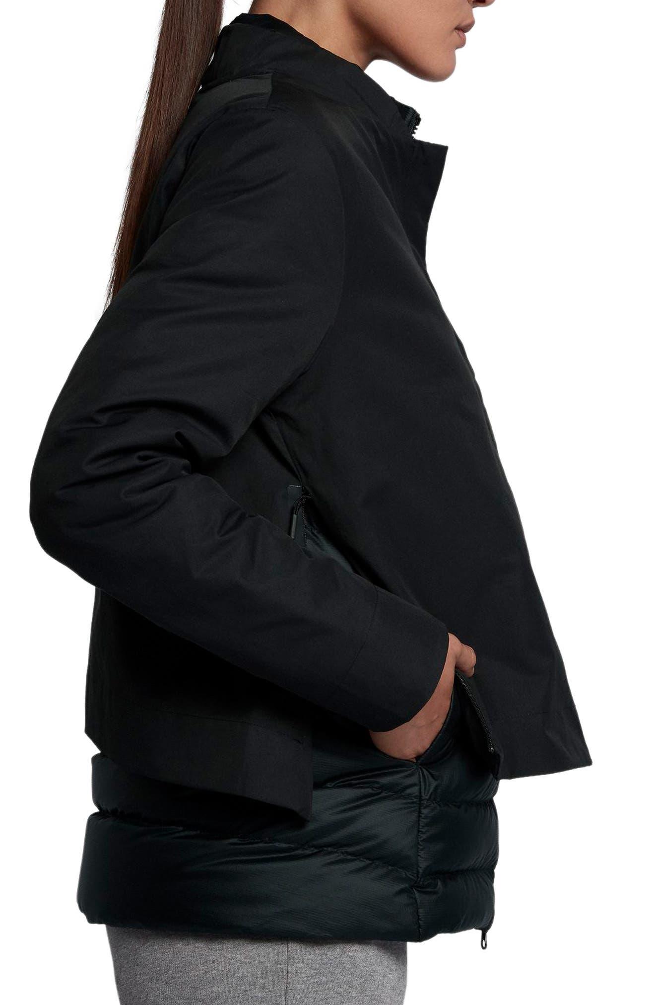 Sportswear AeroLoft 3-in-1 Down Jacket,                             Alternate thumbnail 6, color,                             Black/ Black/ Black