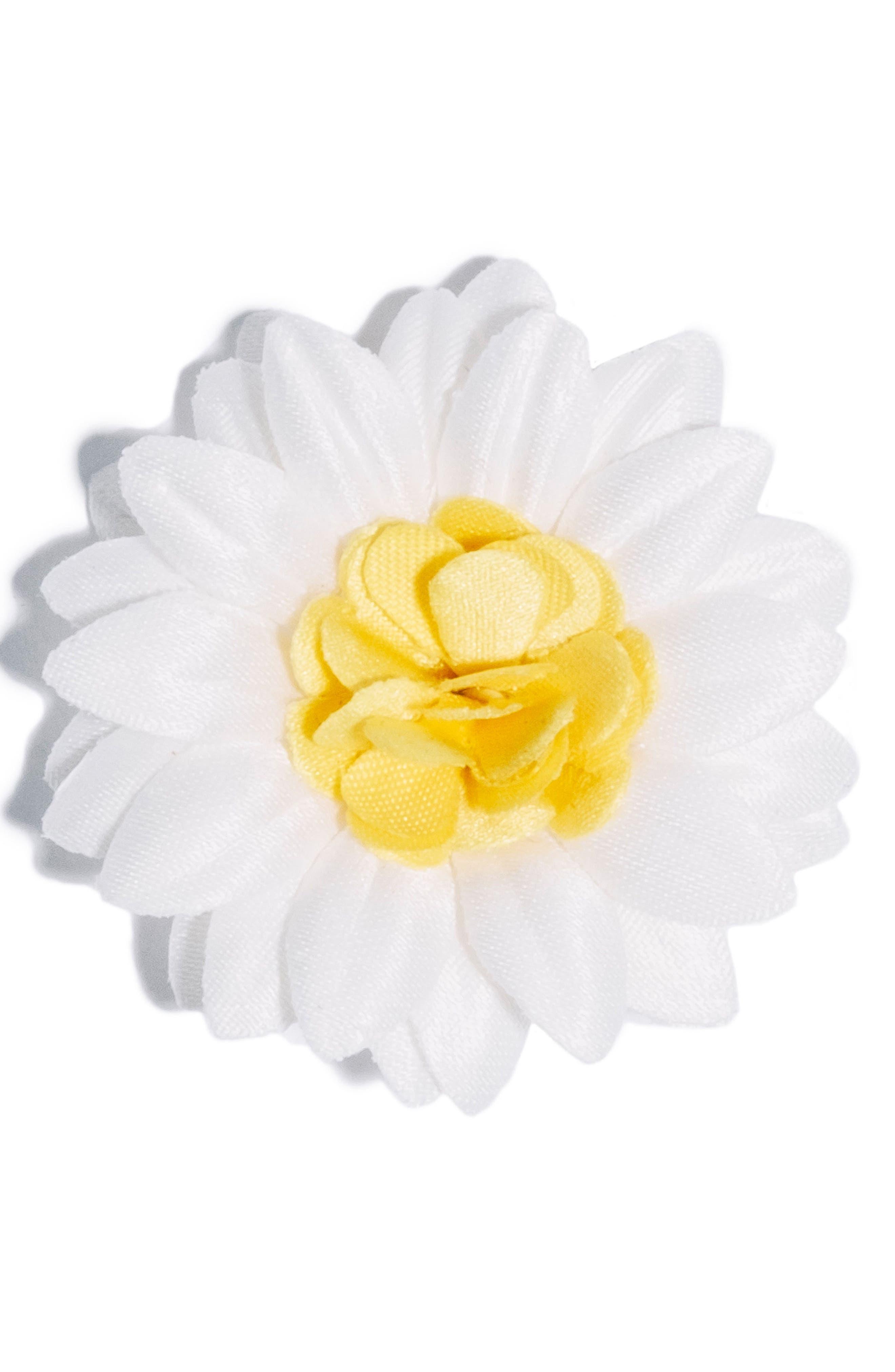 hook + ALBERT Satin Daisy Lapel Flower