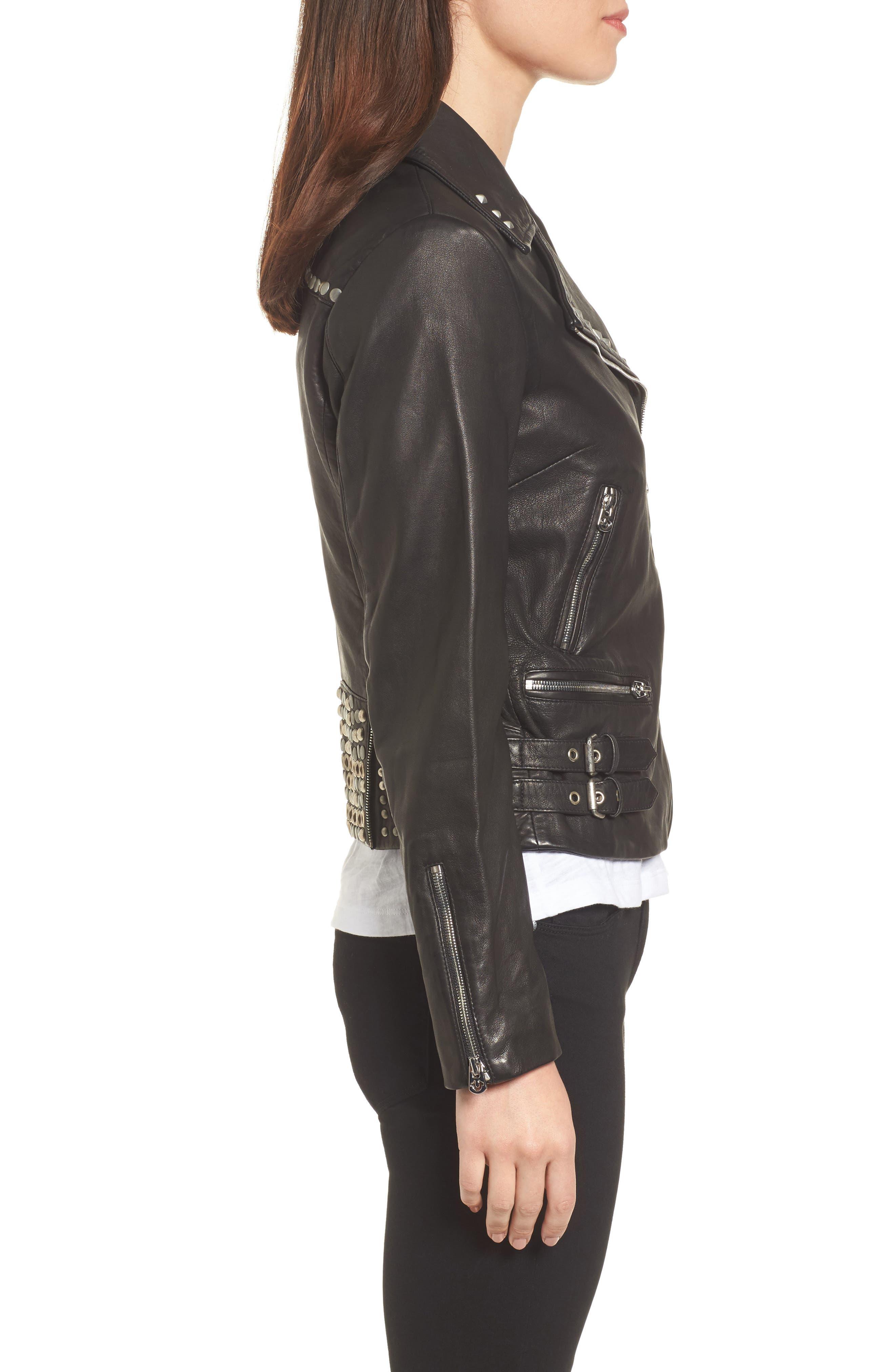 Alternate Image 3  - True Religion Brand Jeans Studded Leather Jacket