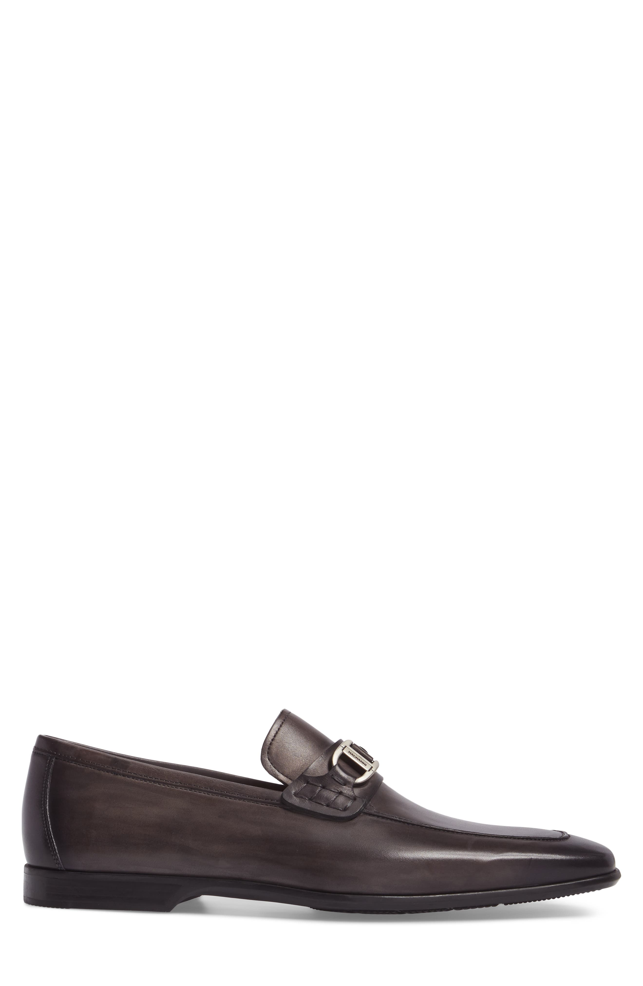 Rufino Bit Loafer,                             Alternate thumbnail 3, color,                             Grey Leather