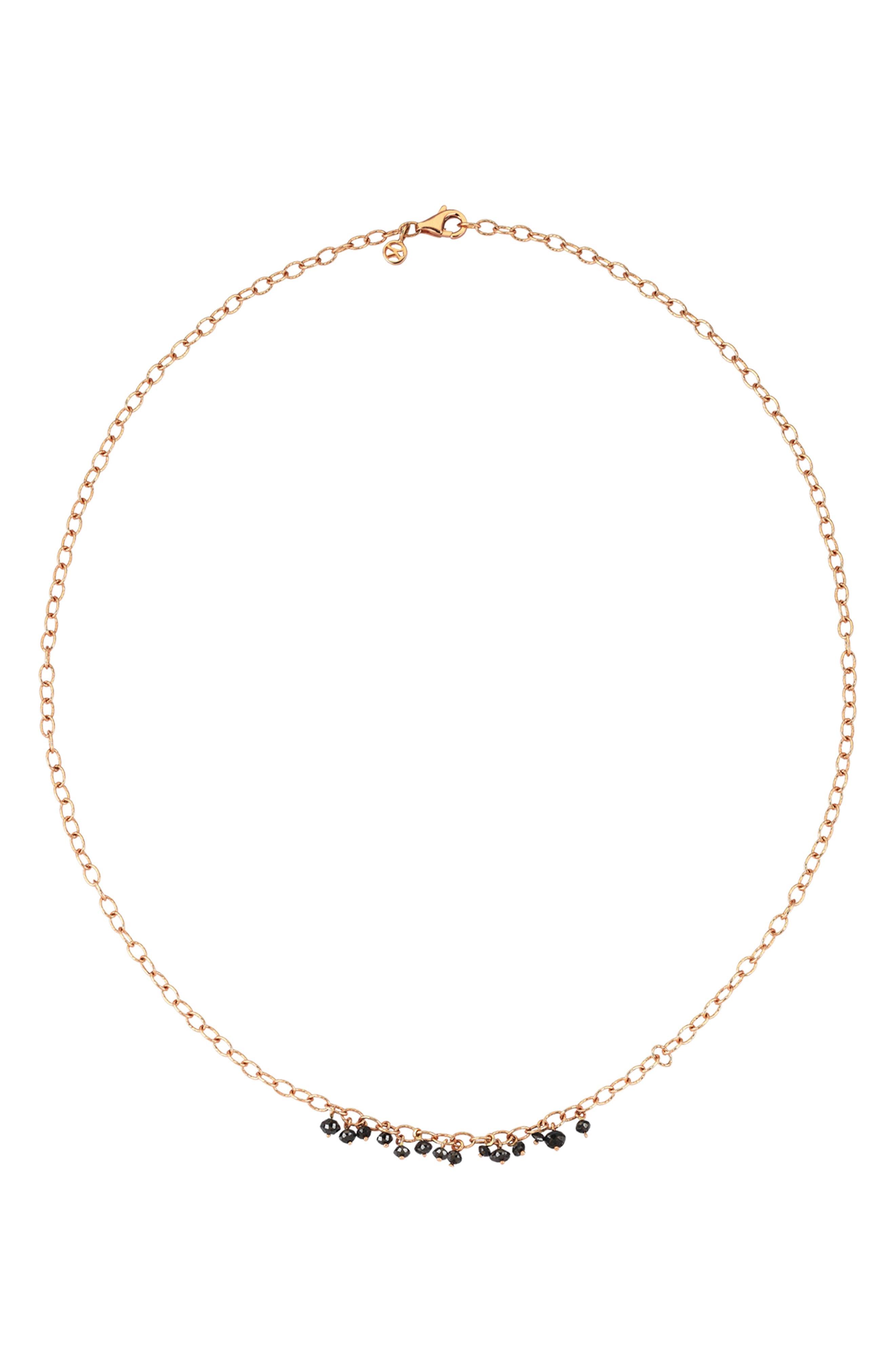 Alternate Image 2  - Kismet by Milka Black Diamond Pendant Necklace