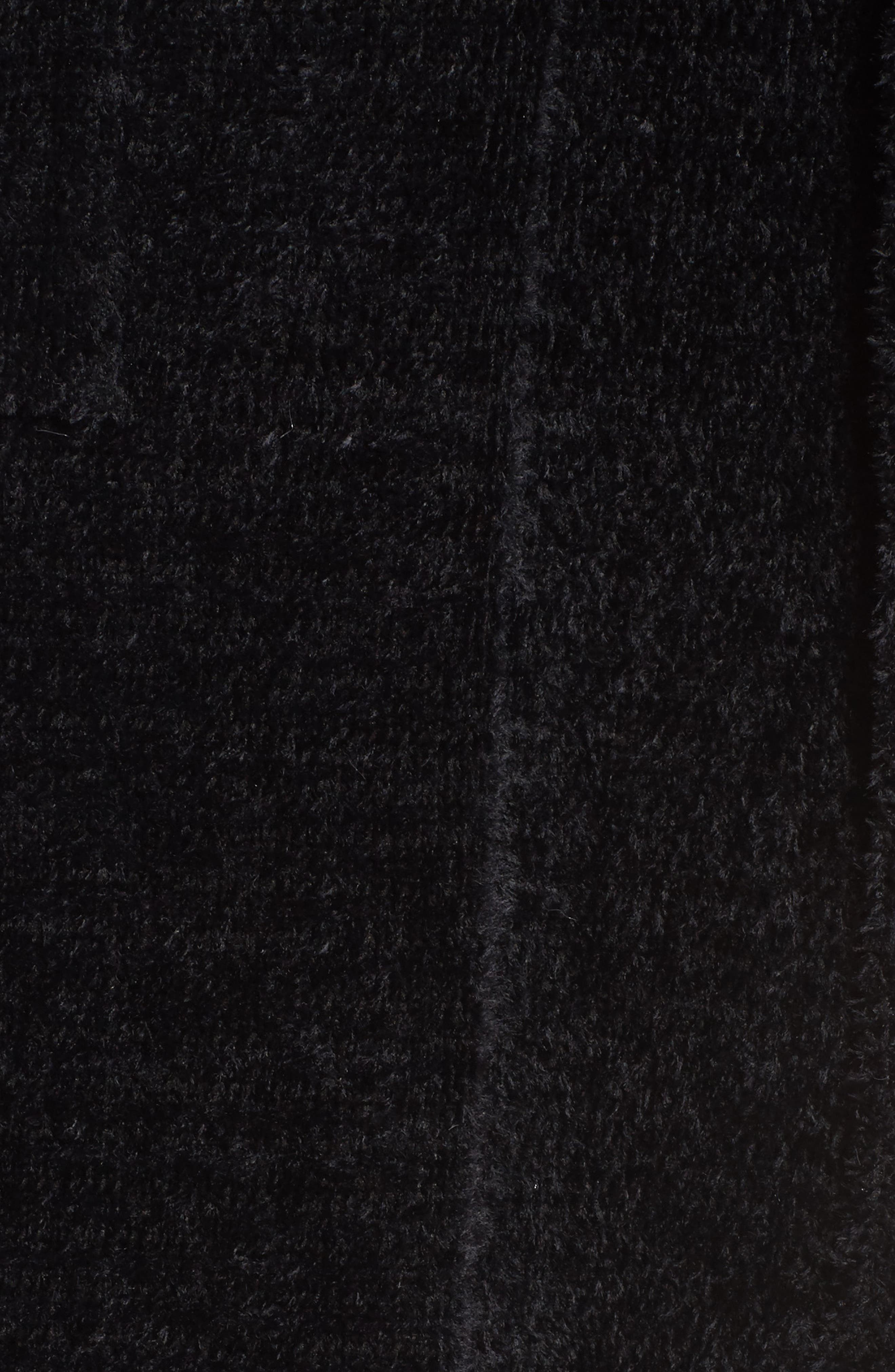Chenille Robe,                             Alternate thumbnail 5, color,                             Black