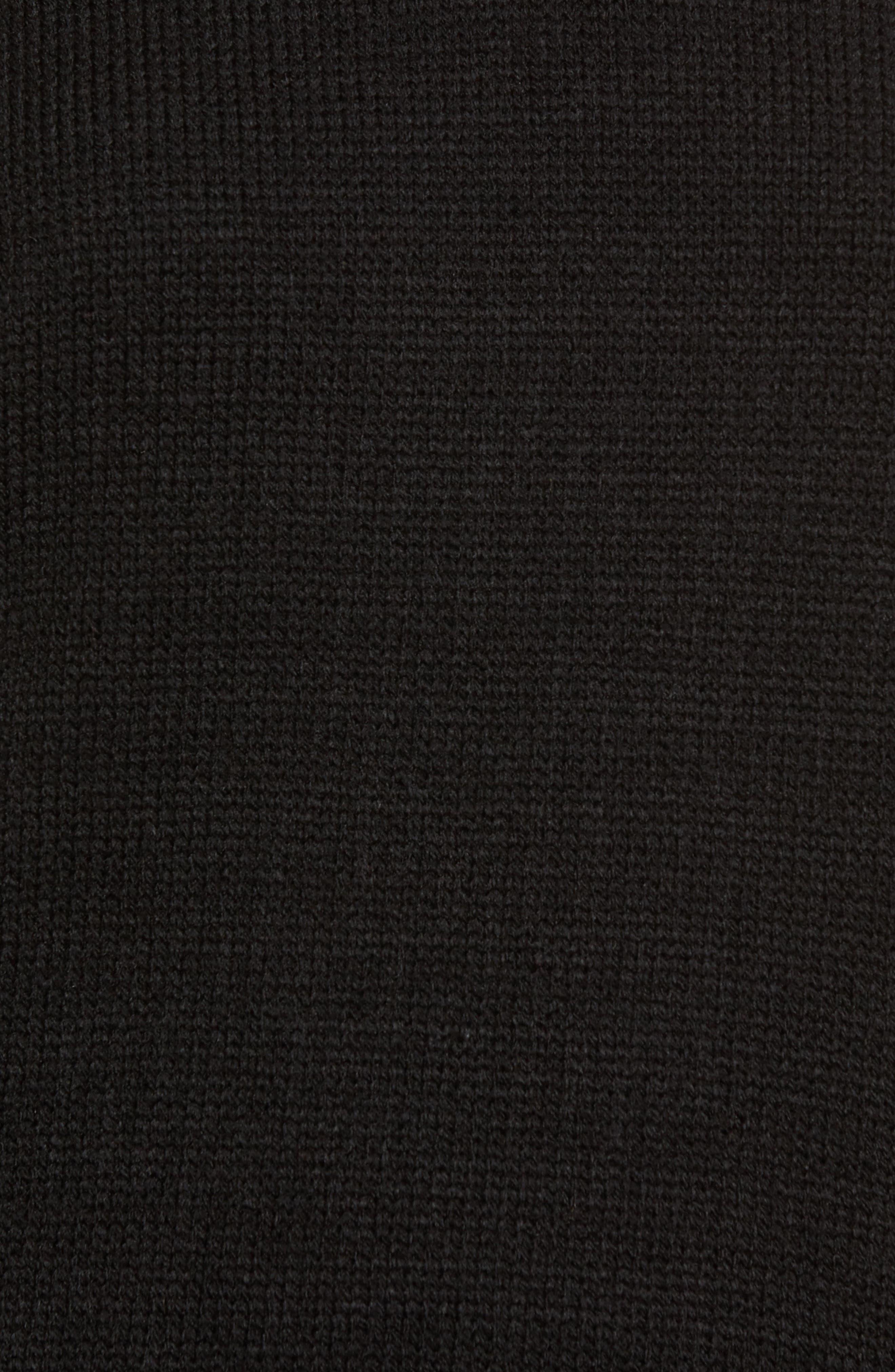 Sweater Dress,                             Alternate thumbnail 5, color,                             Black
