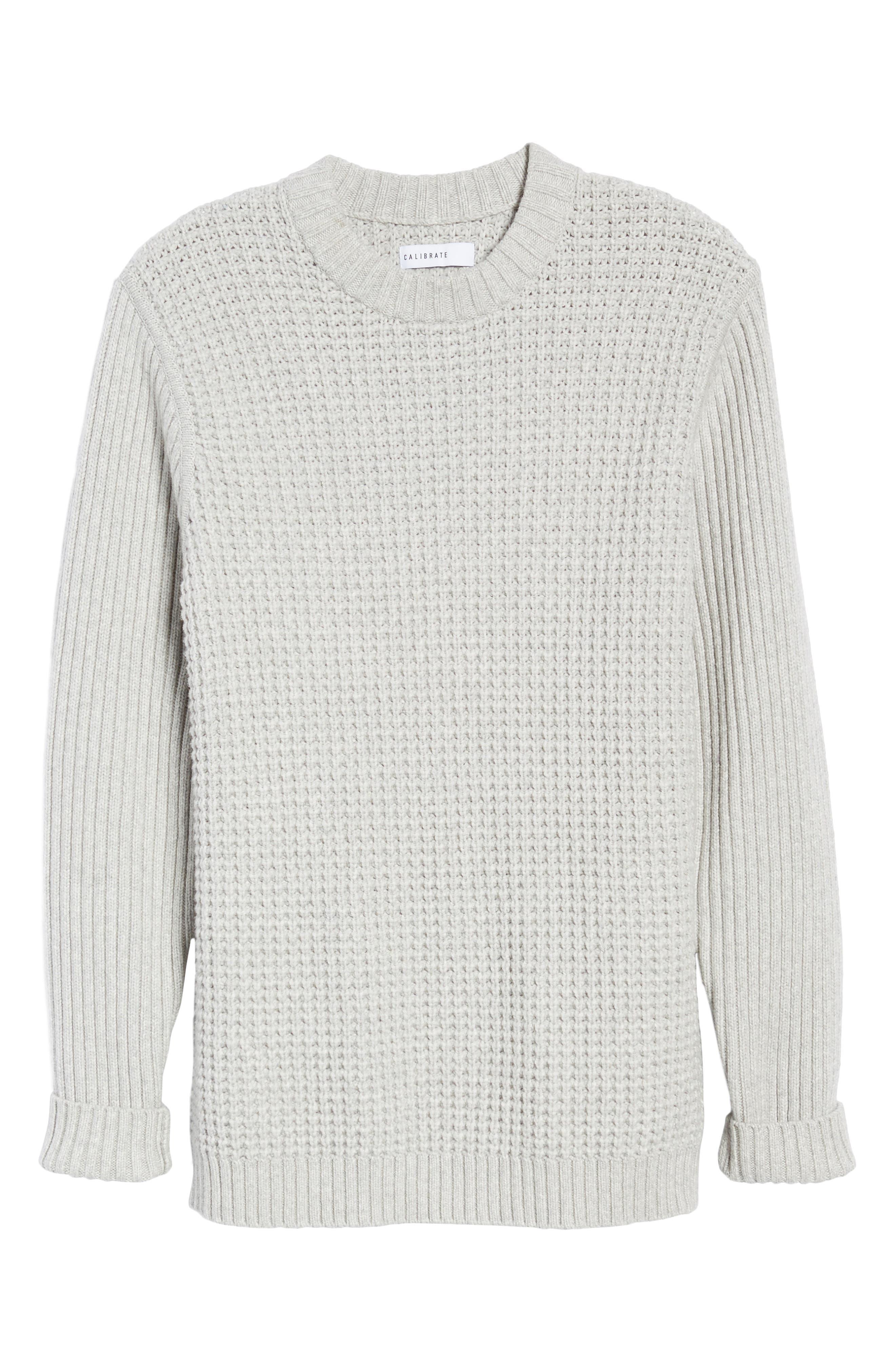 Alternate Image 5  - Calibrate Heavyweight Mixed Knit Crewneck Sweater