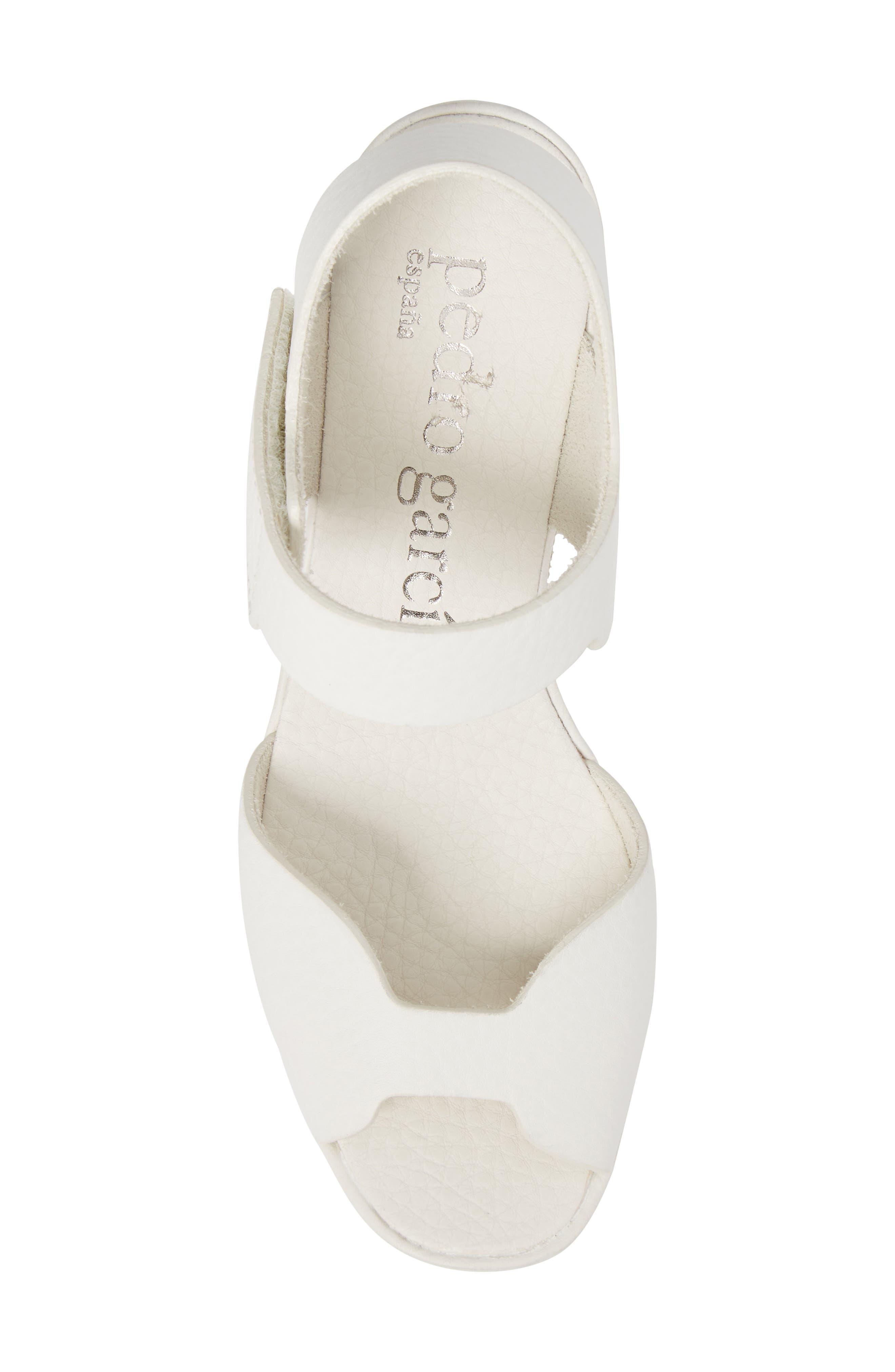 Fah Wedge Sandal,                             Alternate thumbnail 5, color,                             White Cervo