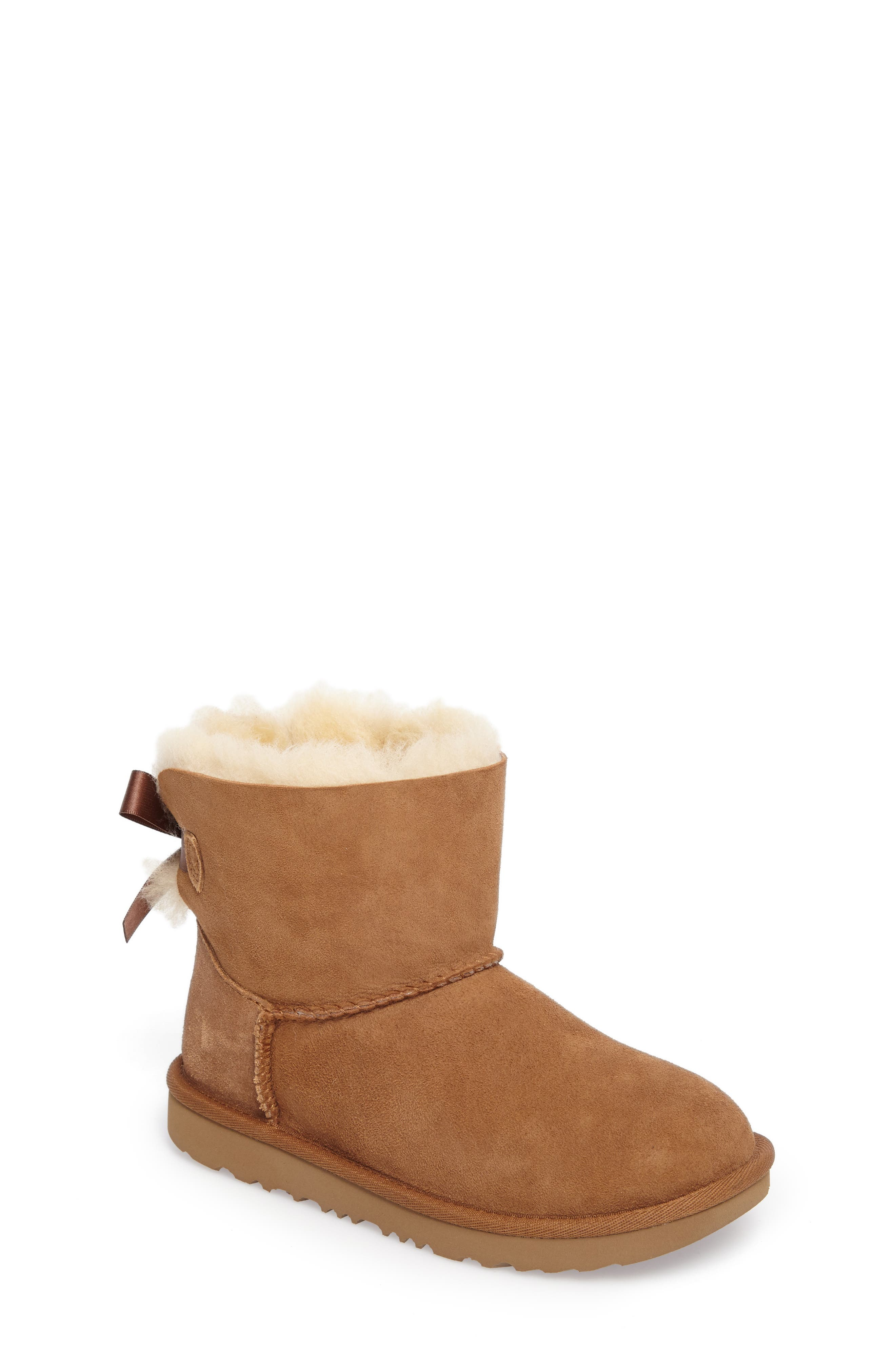 UGG® Mini Bailey Bow II Water Resistant Bootie (Walker, Toddler, Little Kid & Big Kid)