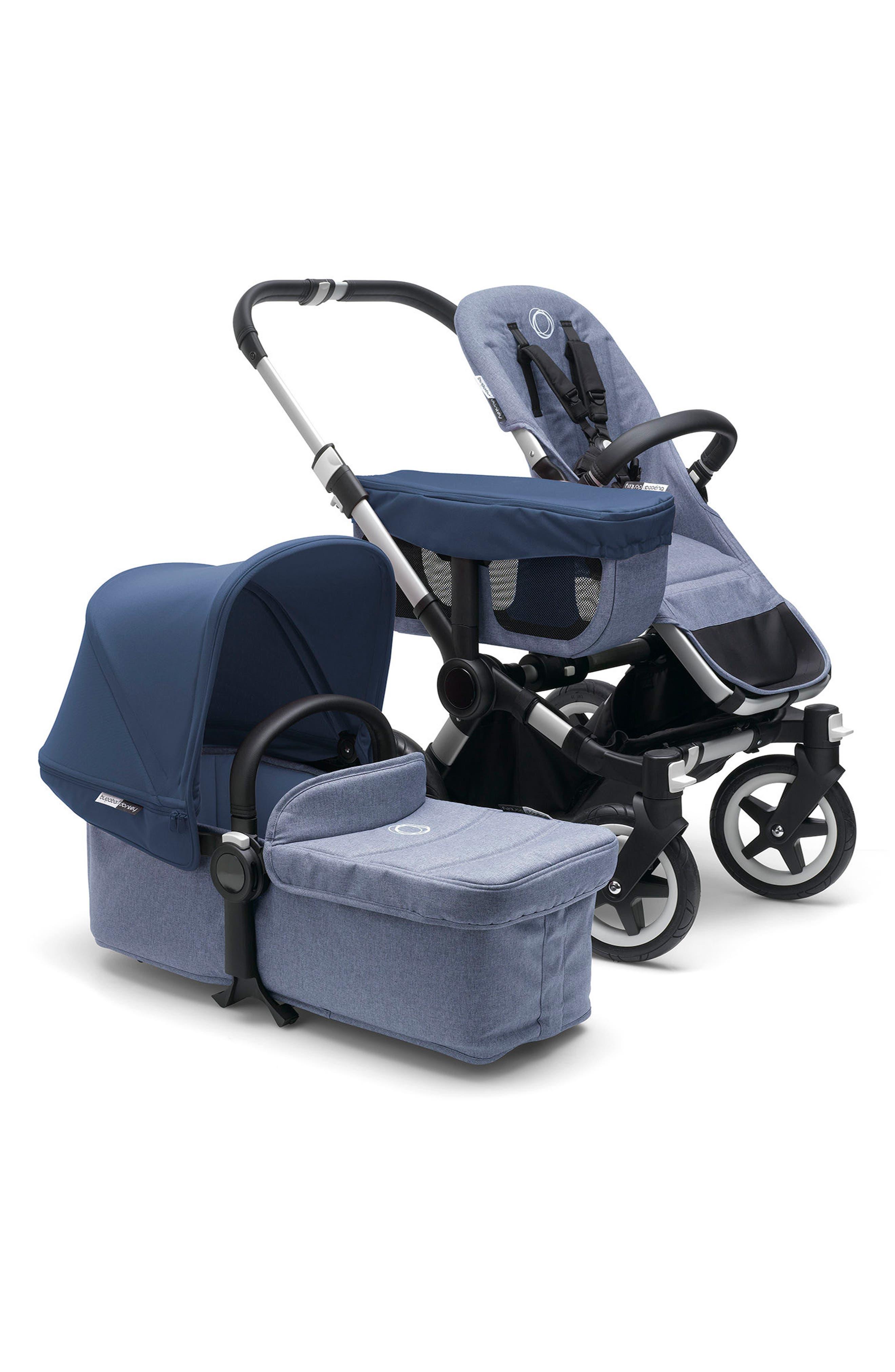 Donkey2 Mono Complete Stroller with Bassinet,                         Main,                         color, Blue Melange