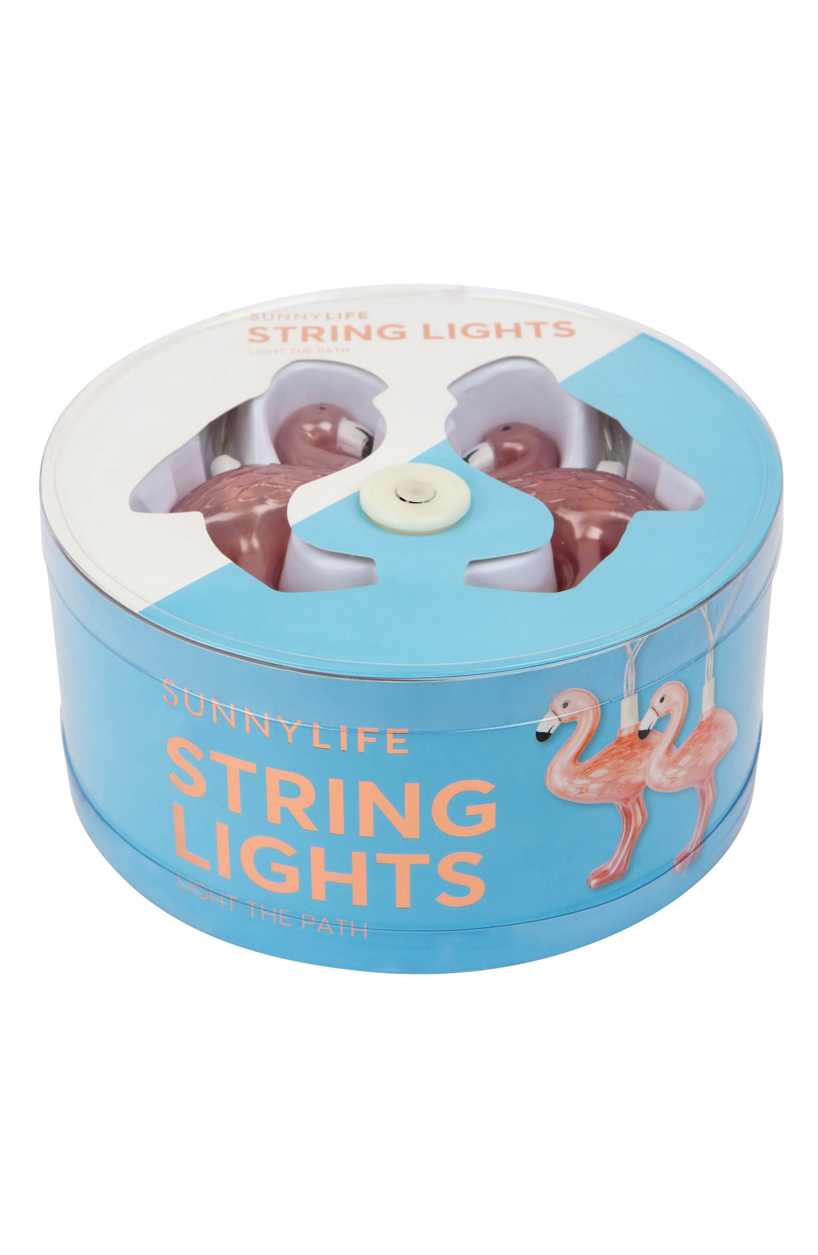 Sunnylife Rose Gold Flamingo String Lights