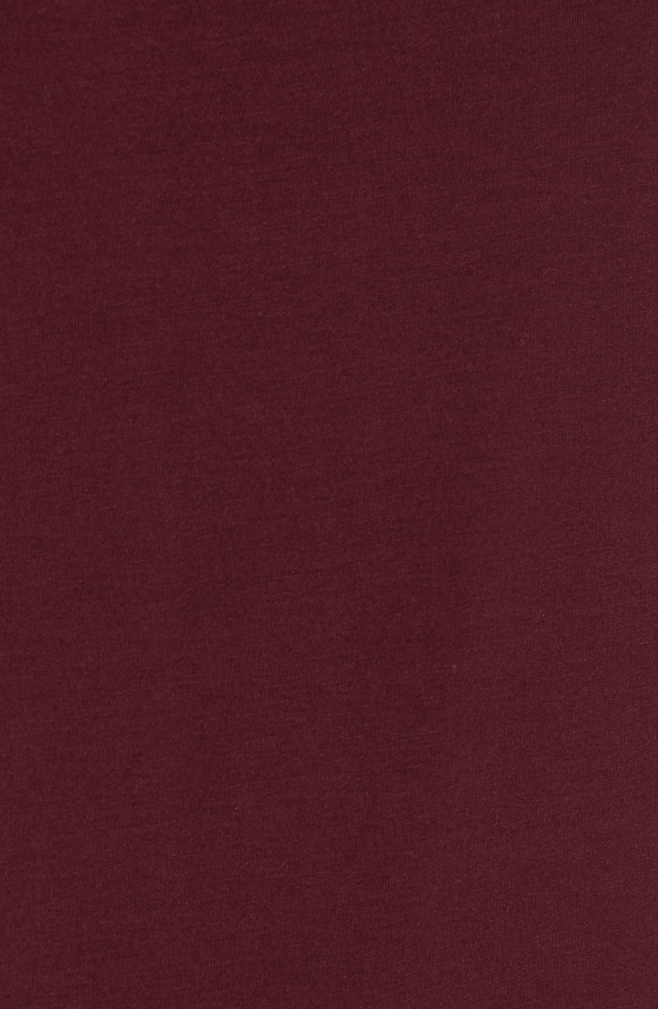 'Flannery' Stripe Stretch Jersey Turtleneck,                             Alternate thumbnail 5, color,                             Plum
