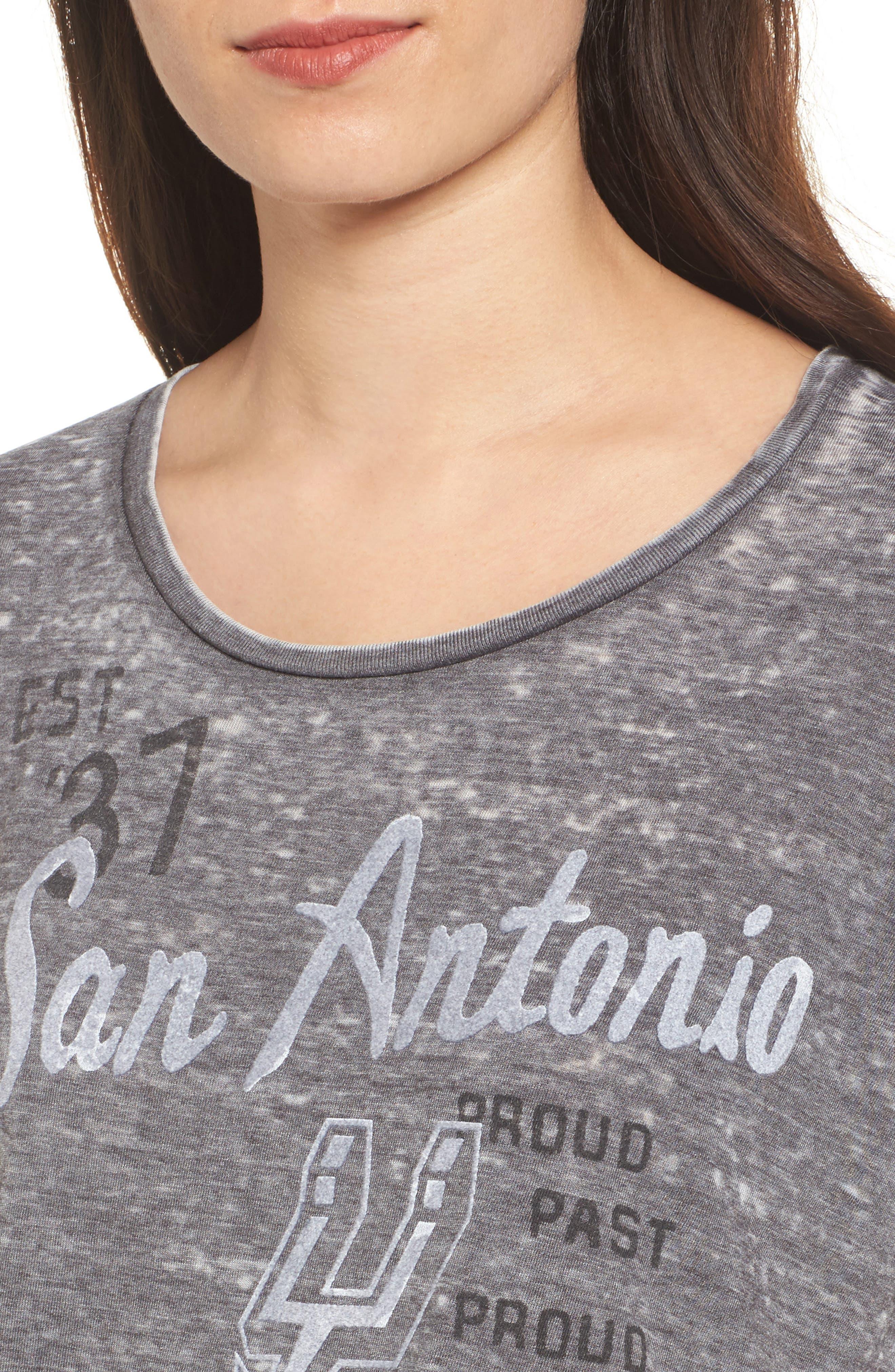 NBA San Antonio Spurs Tee,                             Alternate thumbnail 4, color,                             Black Wash