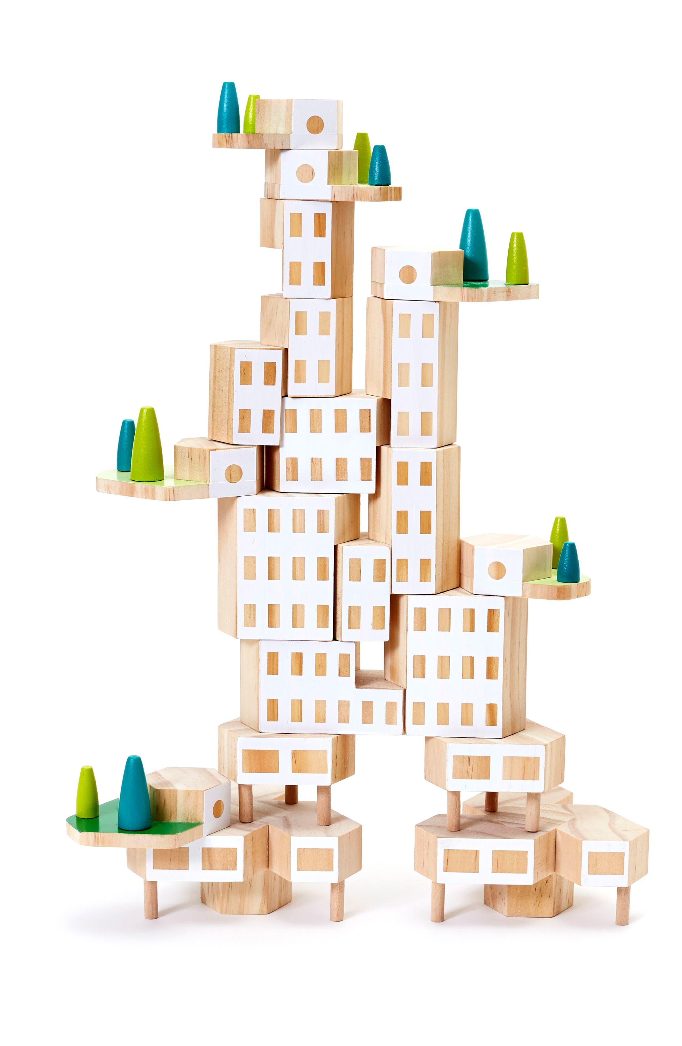 Areaware Blockitecture Garden City 20-Piece Wooden Block Set