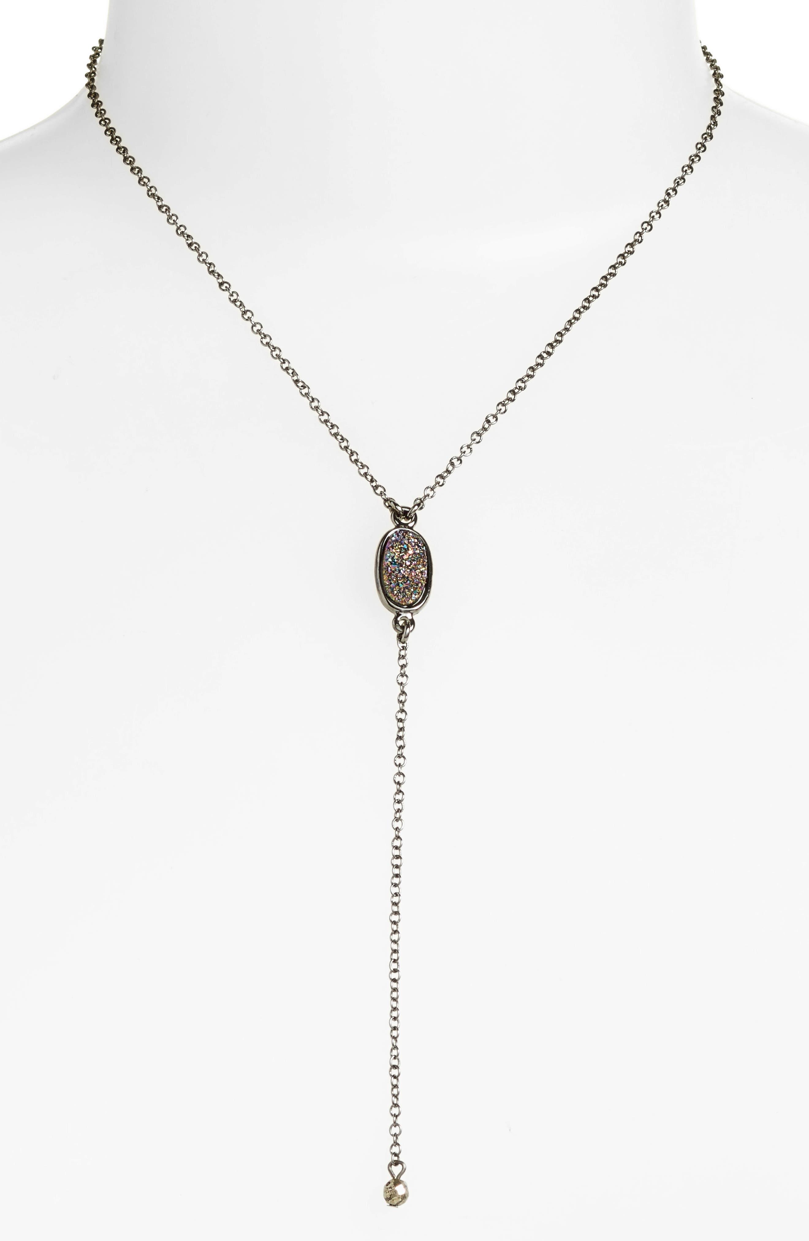 Treasure & Bond Drusy Y-Necklace