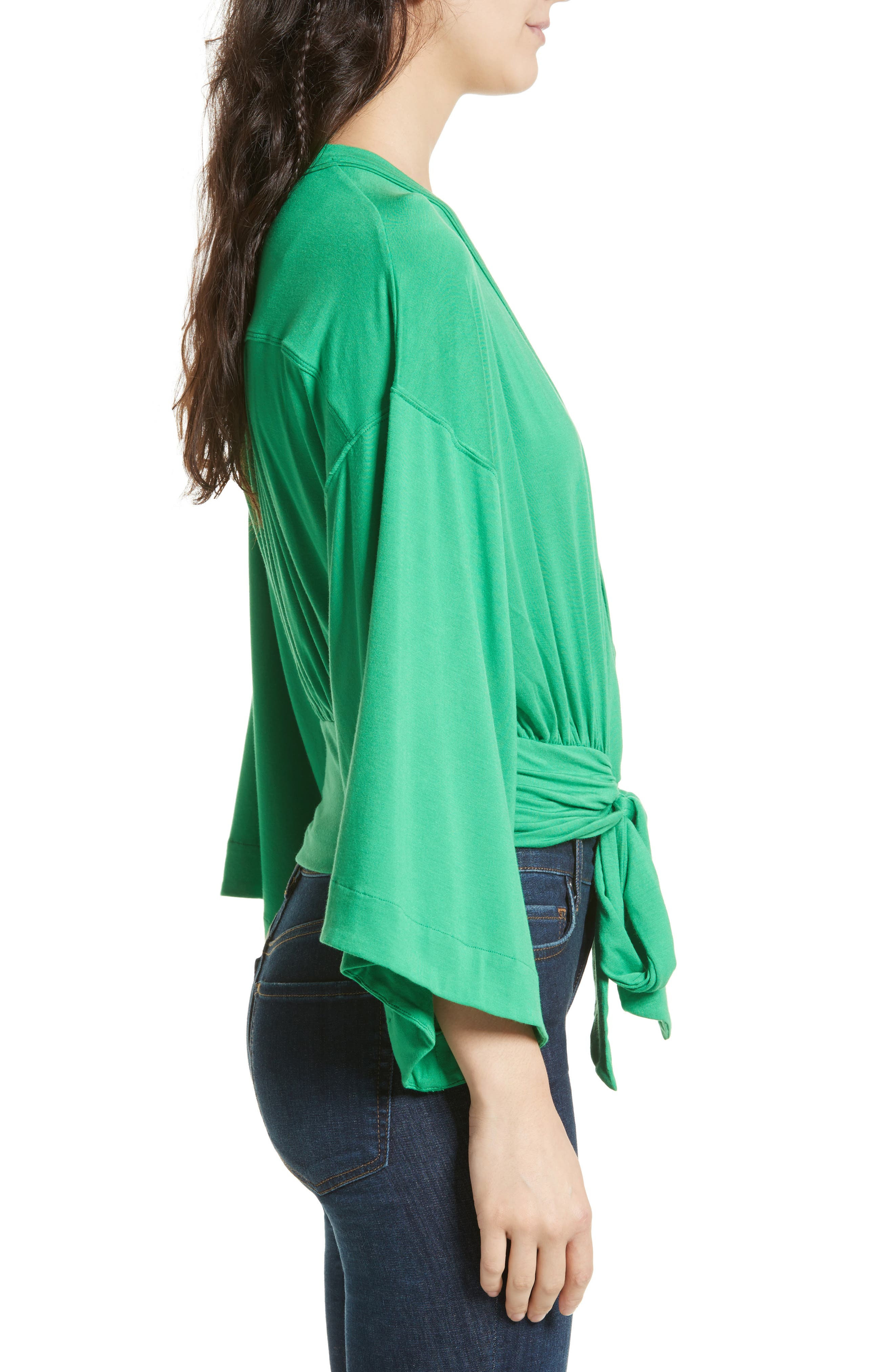 That's a Wrap Top,                             Alternate thumbnail 3, color,                             Green