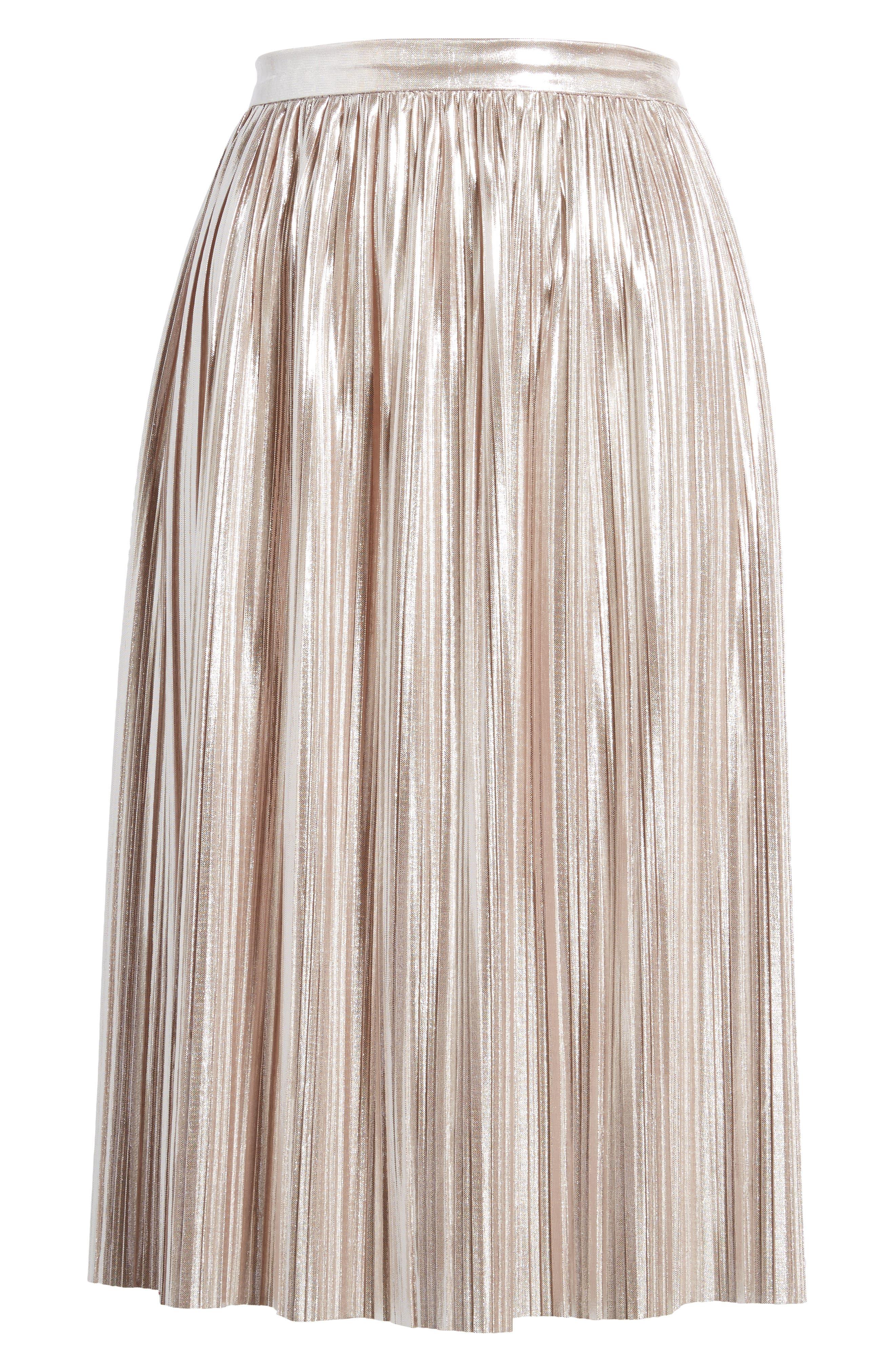 Sateen Ruffle Skirt,                             Alternate thumbnail 6, color,                             Beige Maple