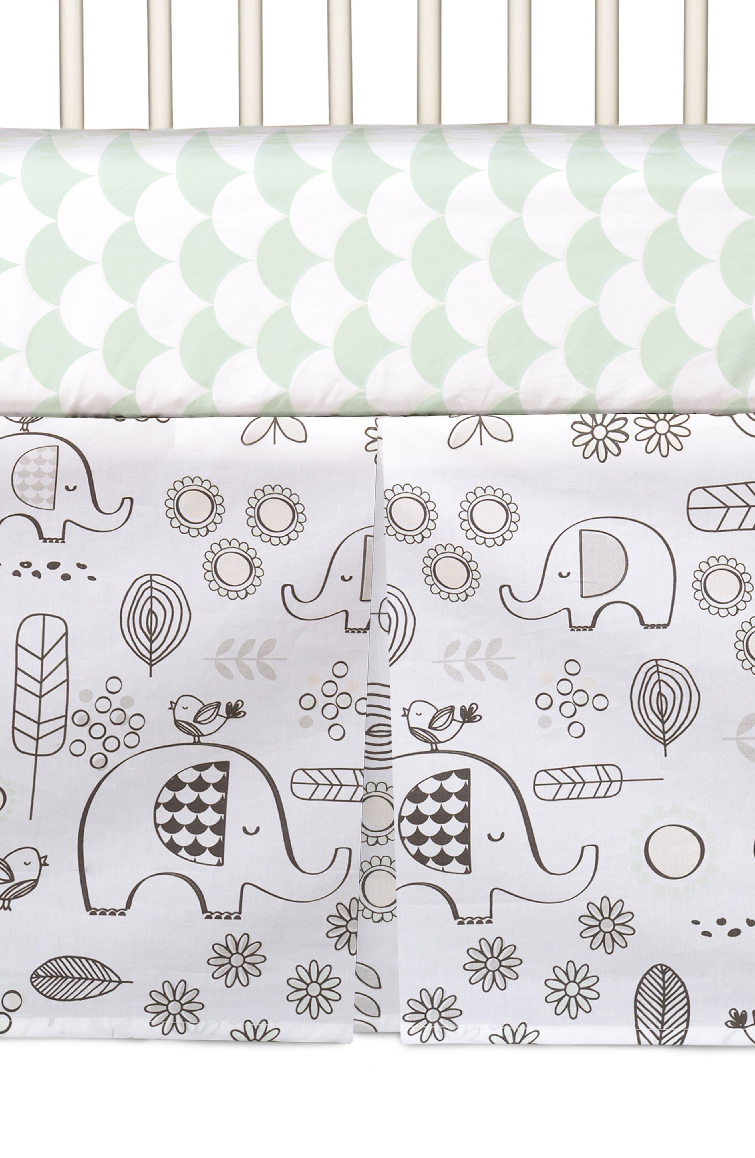 Elle Elephant 4-Piece Crib Bedding Set,                             Alternate thumbnail 6, color,                             Kayden - Elle Elephant