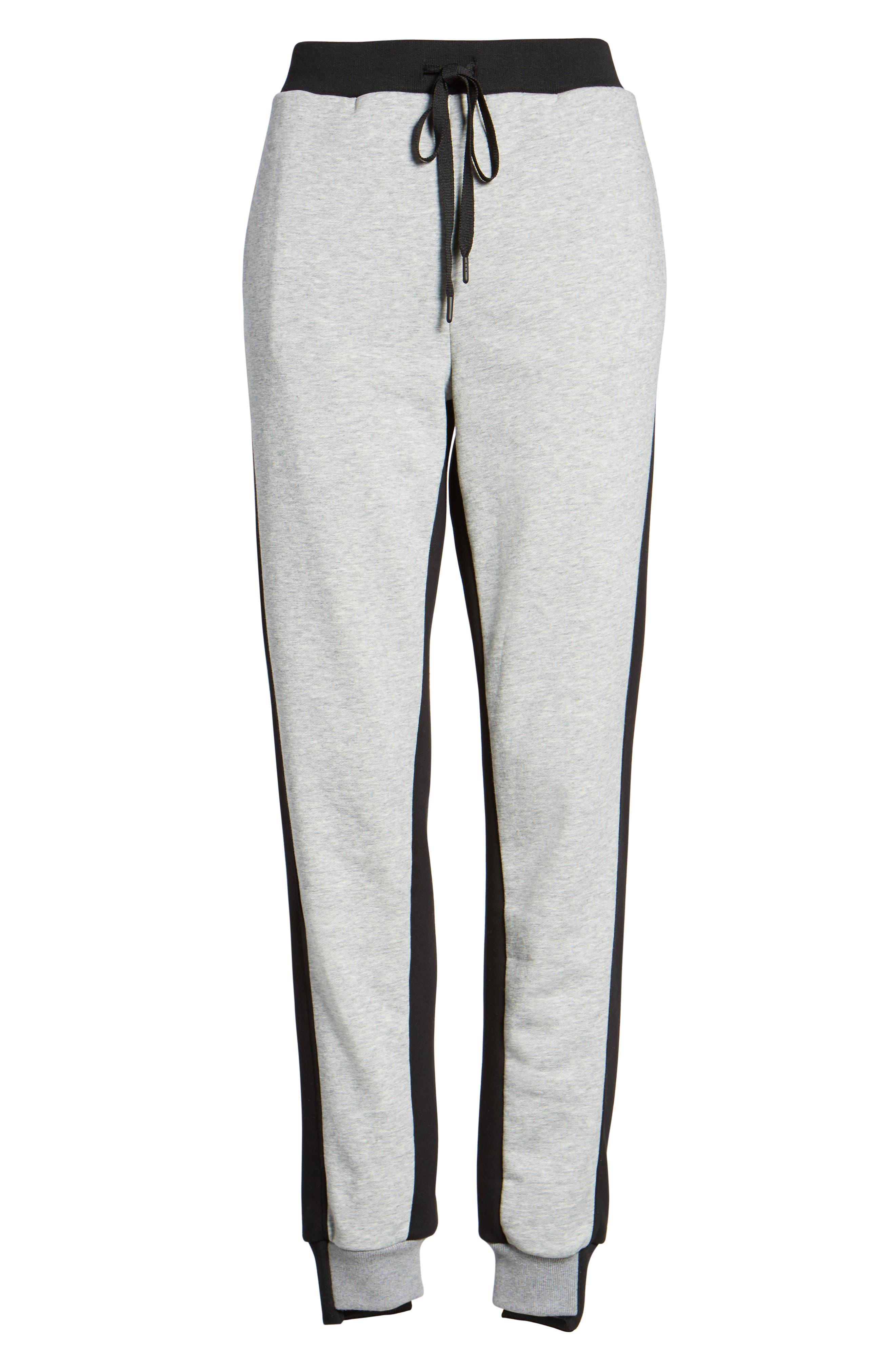 Paneled Sweatpants,                             Alternate thumbnail 6, color,                             Black/ Med. Heather Grey