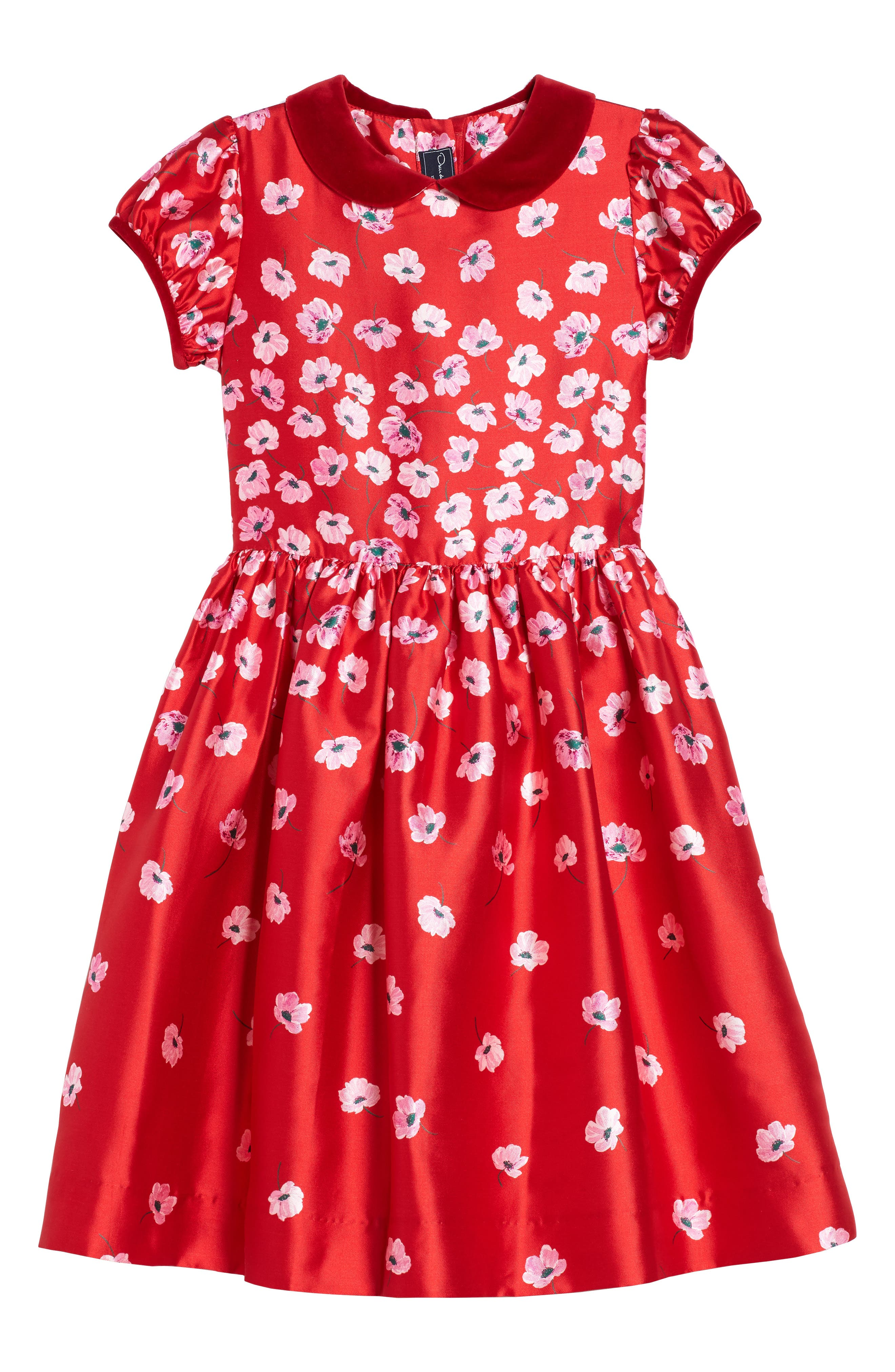 Oscar de la Renta Floral Print Dress (Baby Girls)