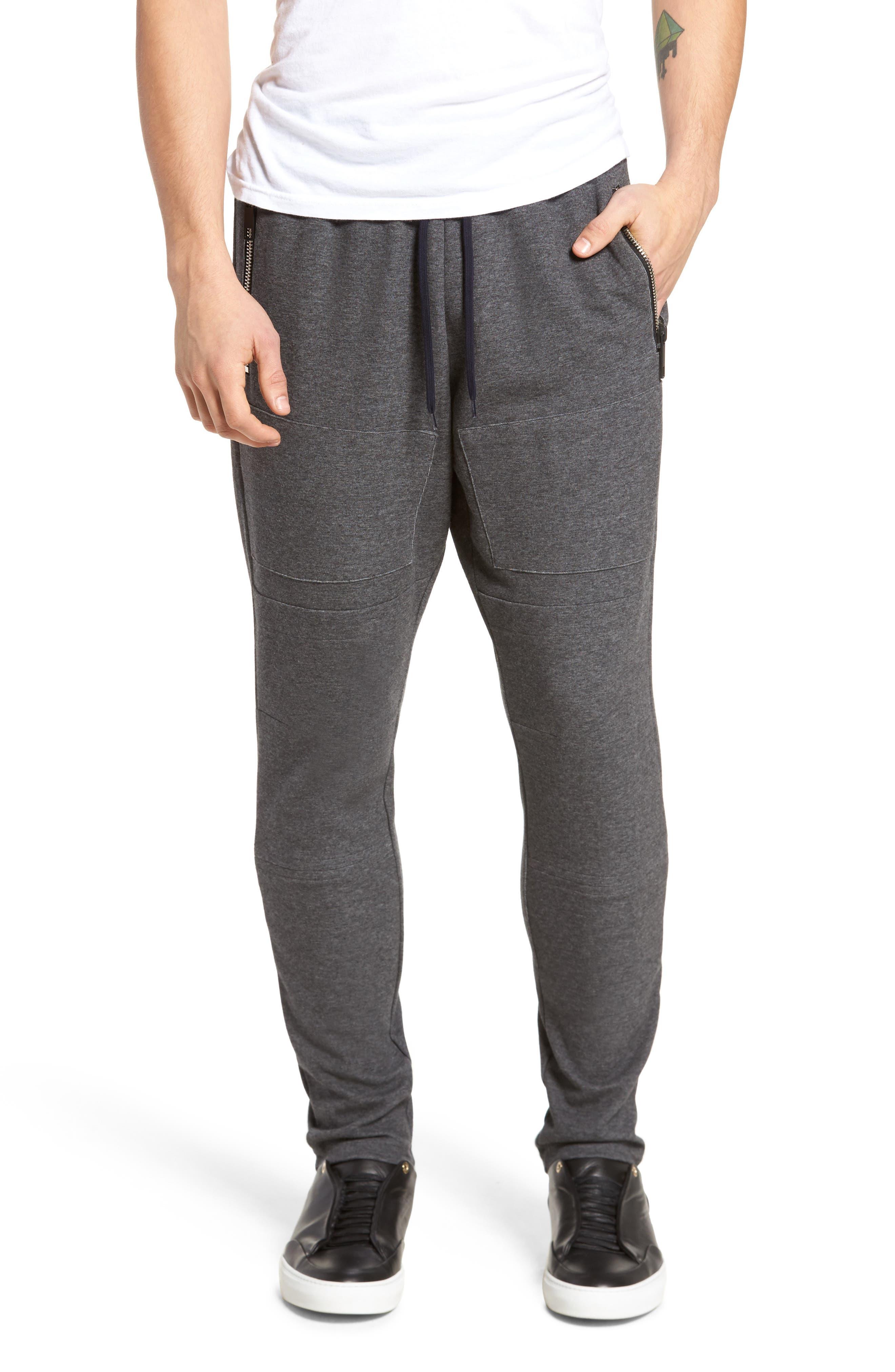 Fleece Pants,                         Main,                         color, Dark Melange