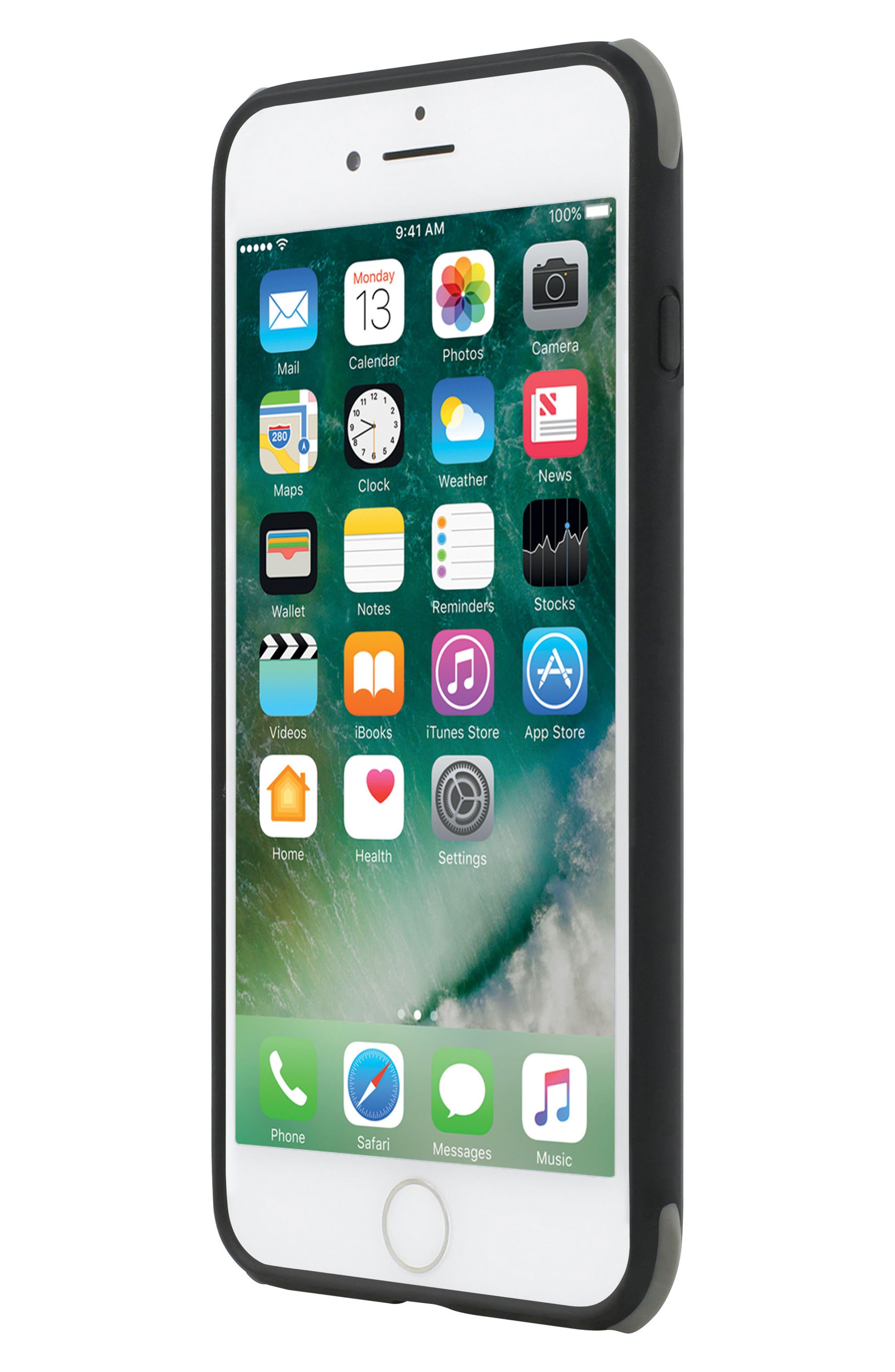 iPhone 8 Case,                             Alternate thumbnail 4, color,                             Matte Black/ Grey