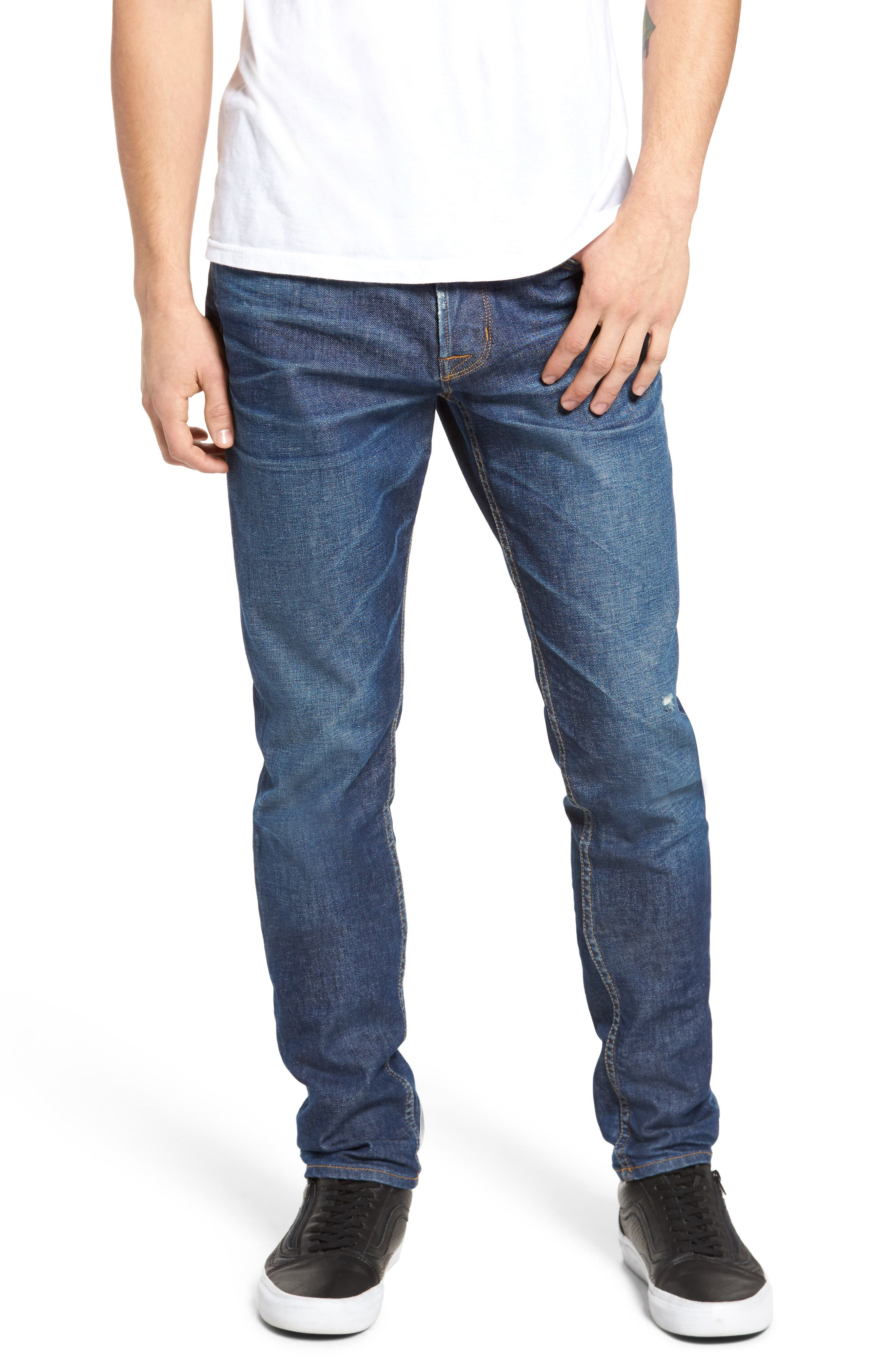 Alternate Image 1 Selected - Hudson Jeans Axl Skinny Fit Jeans (Falling Down)