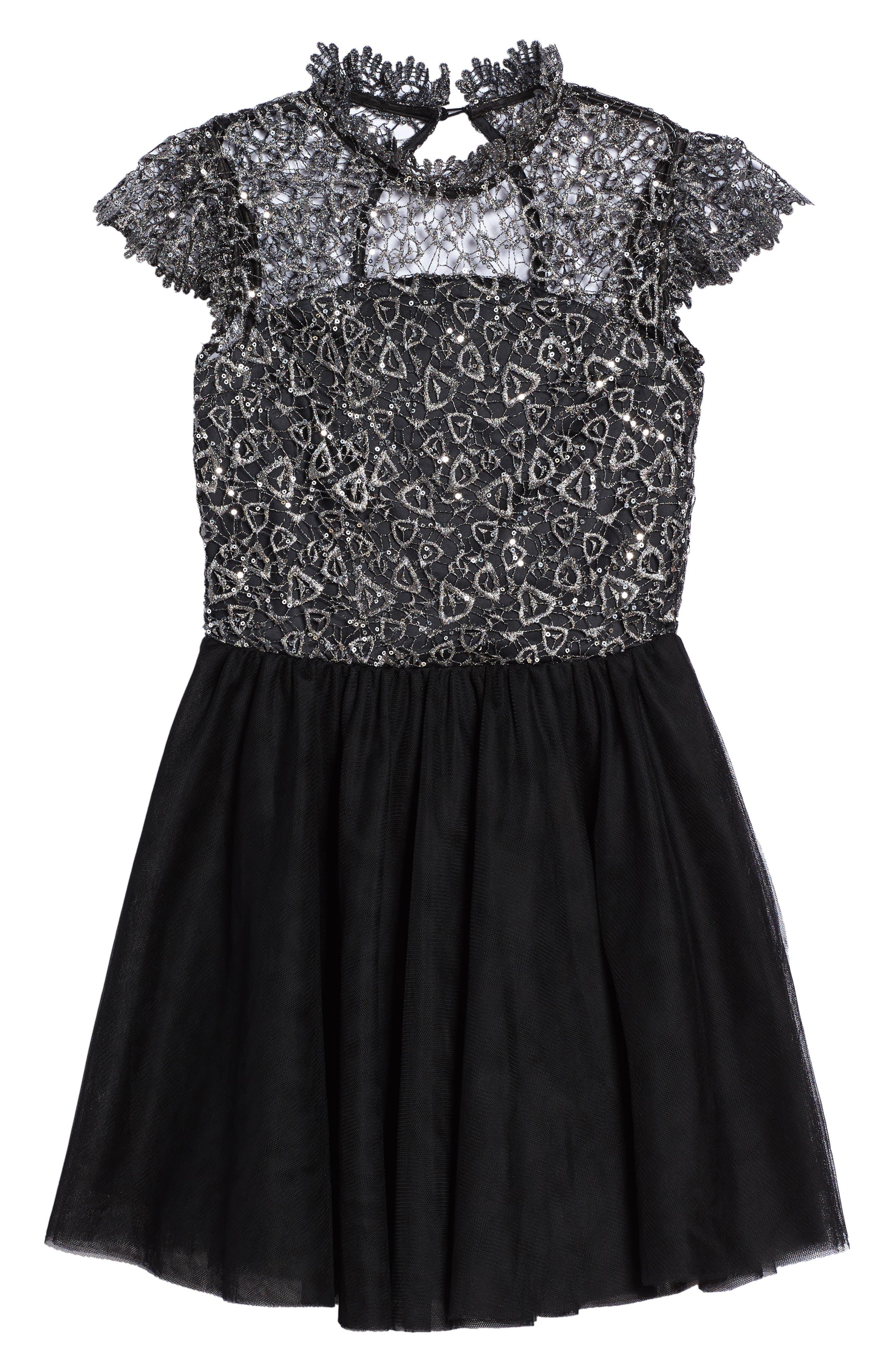 Bling Rocky Dress,                             Main thumbnail 1, color,                             Black