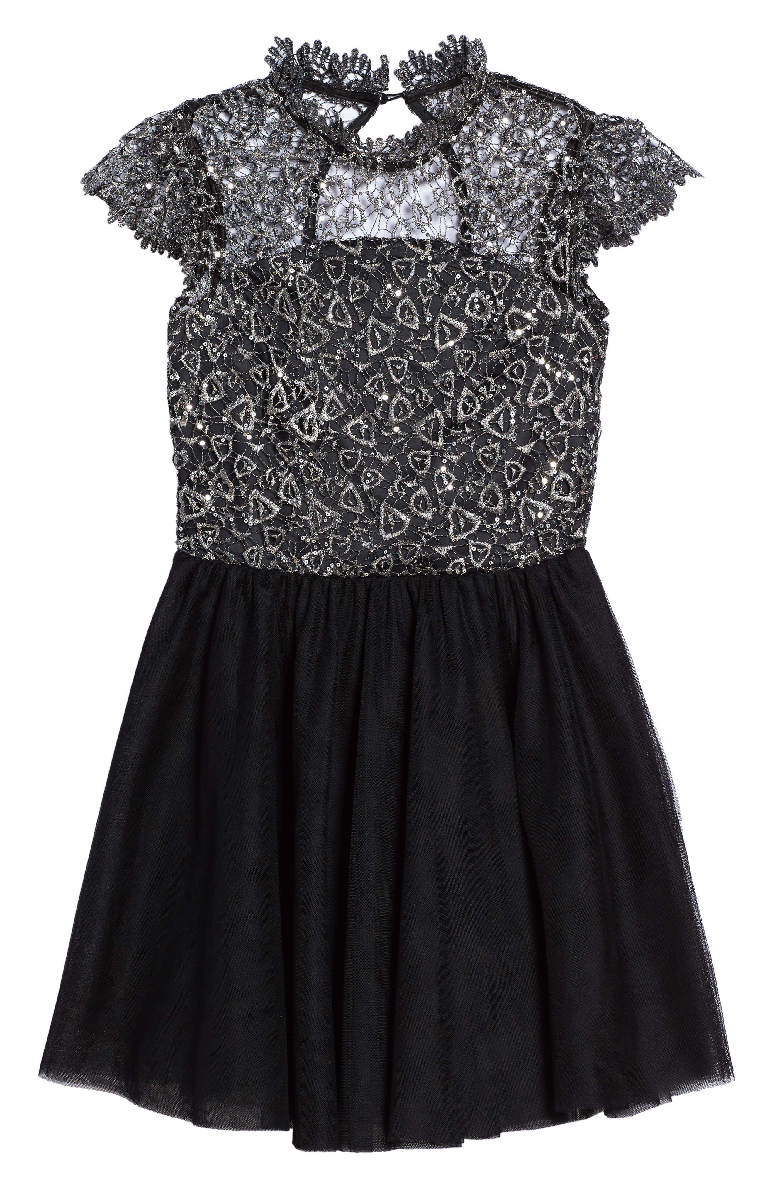 Main Image - Miss Behave Bling Rocky Dress (Big Girls)