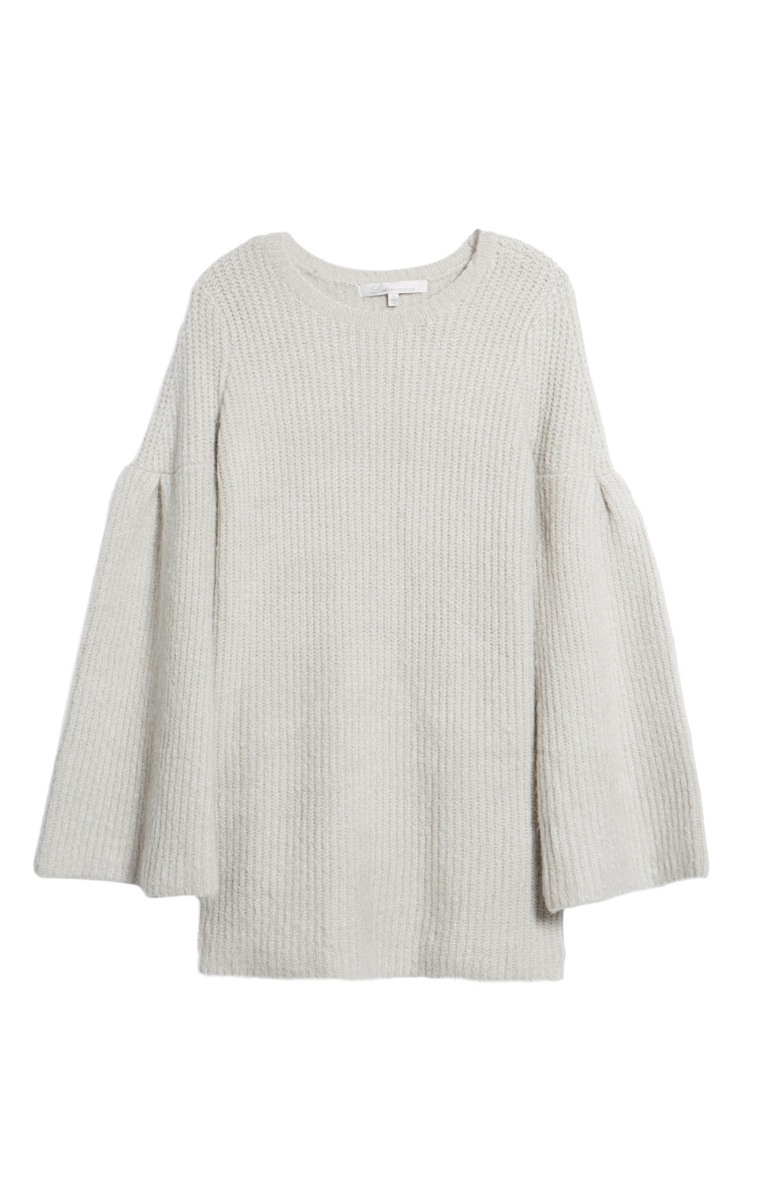 Gemstone Sweater Dress,                             Alternate thumbnail 6, color,                             Warm Grey