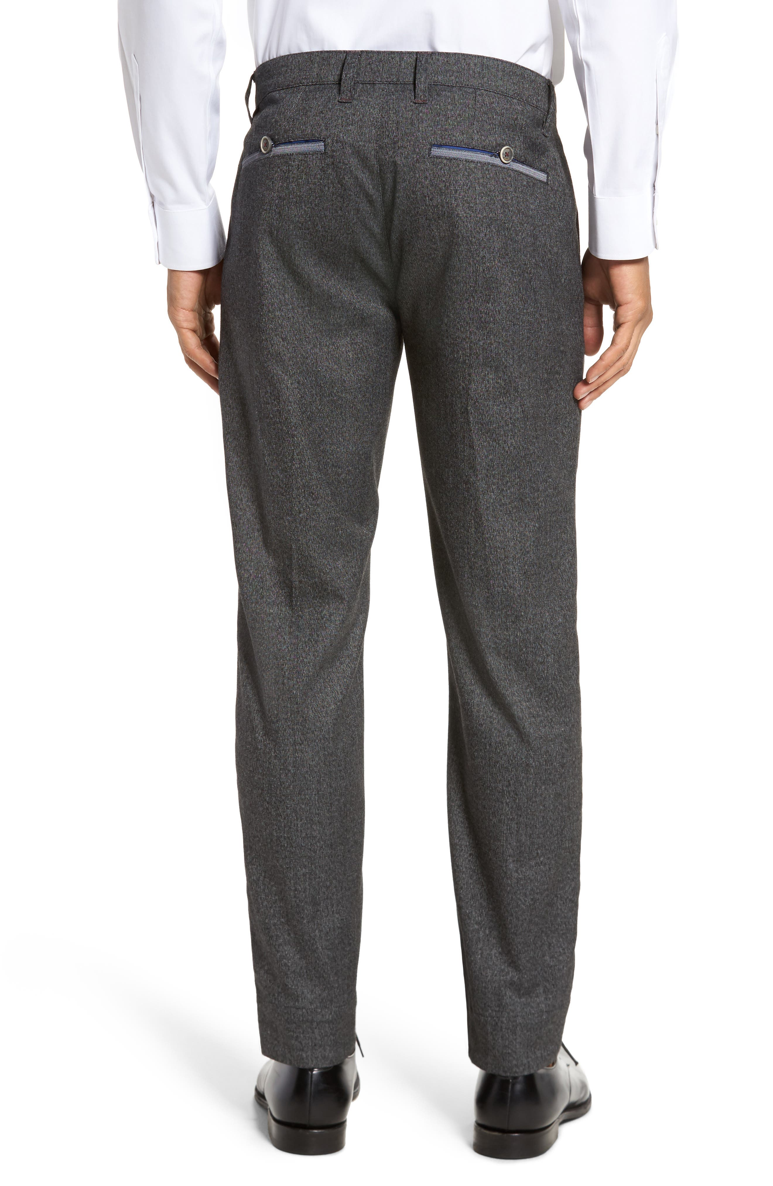 Slim Fit Trousers,                             Alternate thumbnail 4, color,                             Charcoal