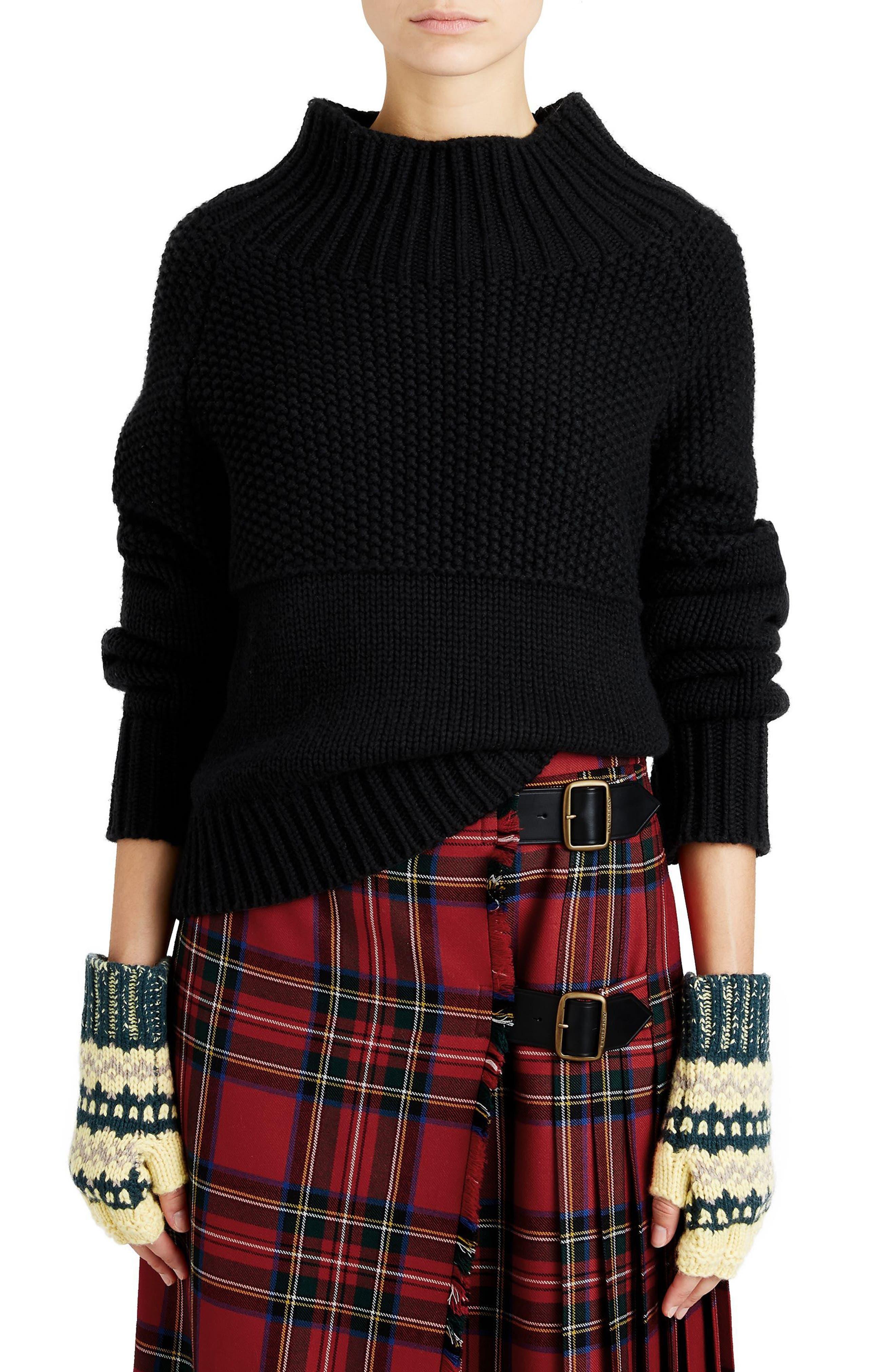 Main Image - Burberry Dawson Cashmere Sweater
