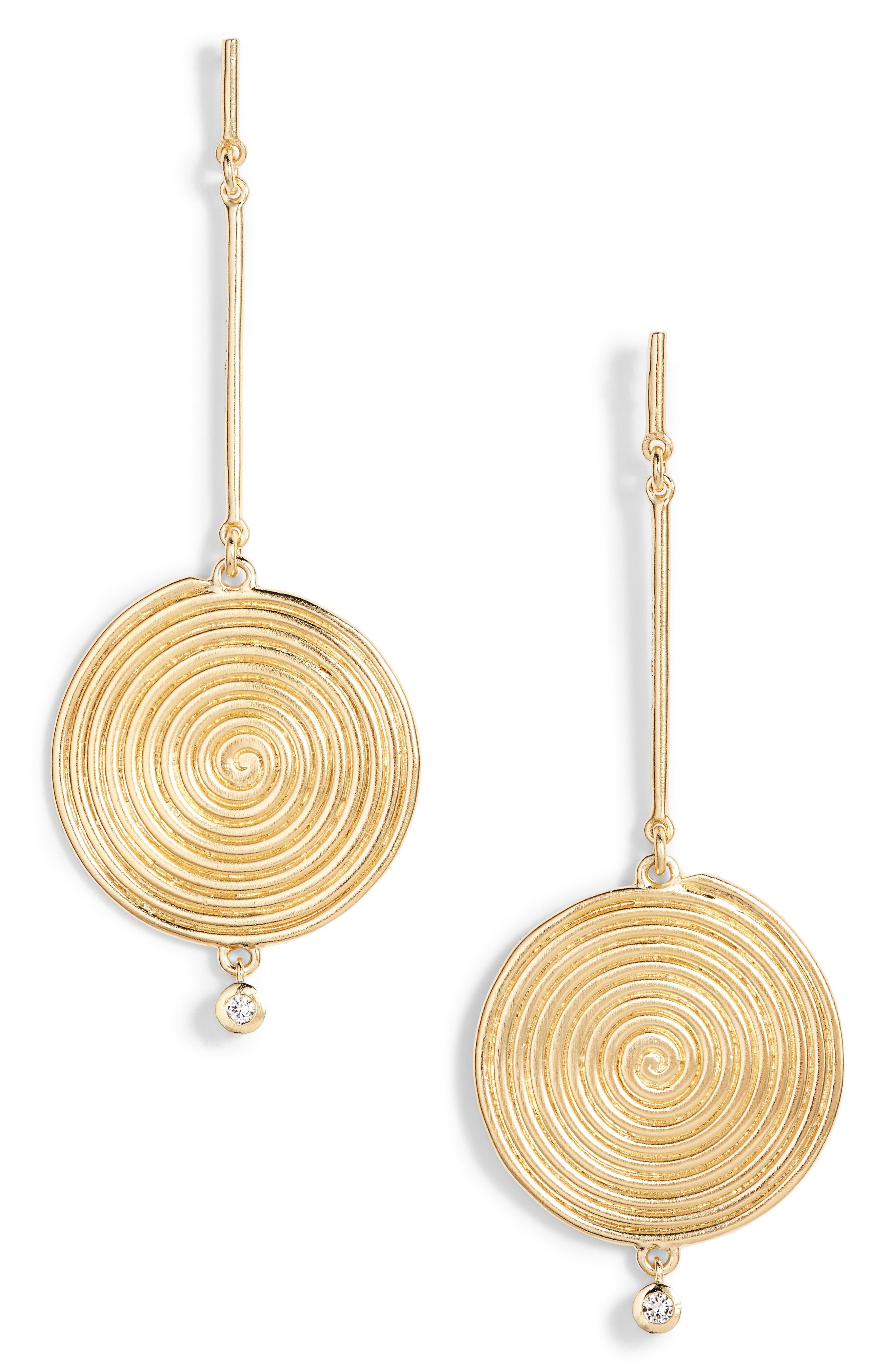 Alternate Image 1 Selected - Elizabeth and James Sullivan - Lainey White Topaz Drop Earrings
