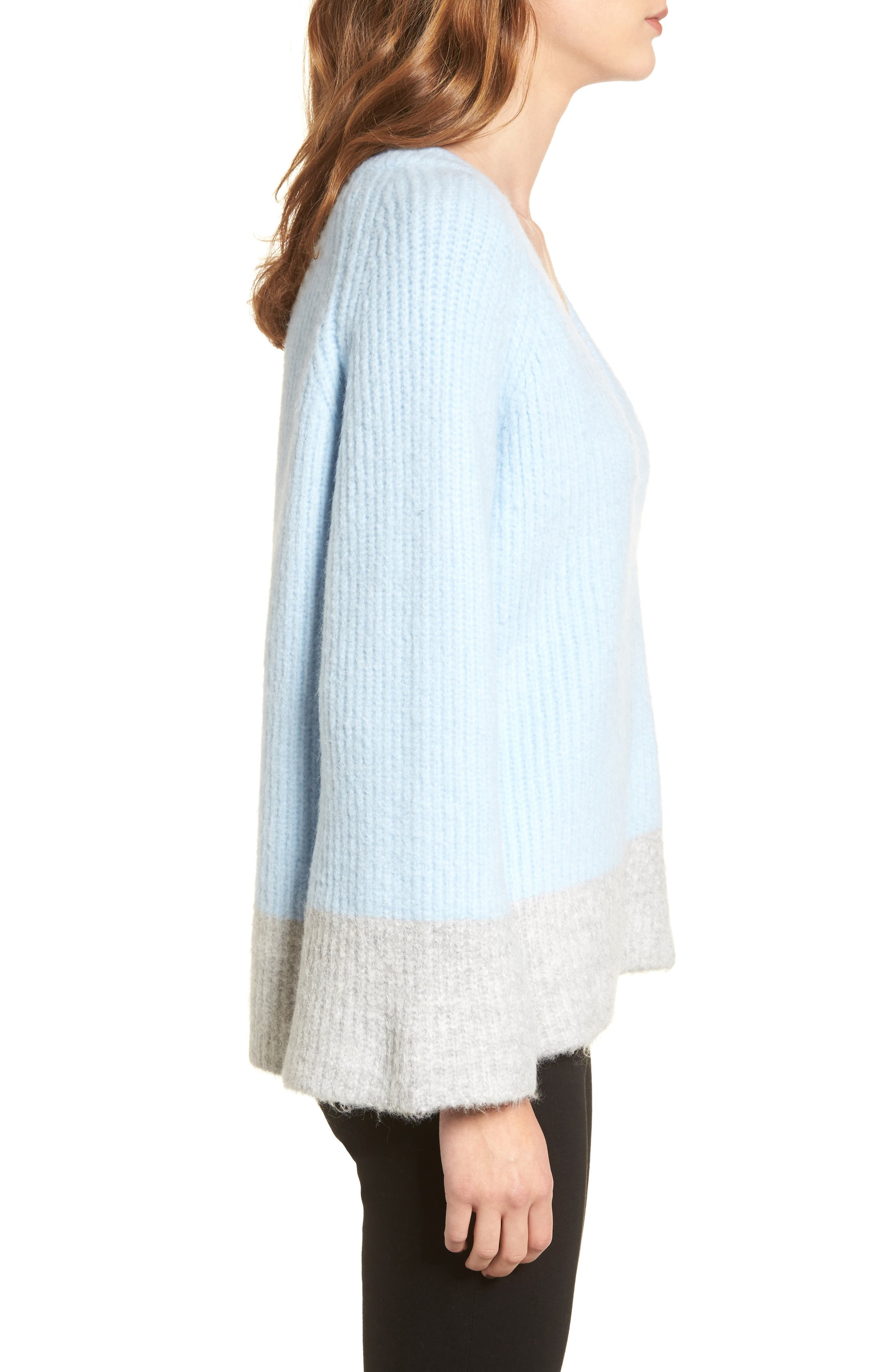 Alternate Image 4  - LOST INK Oversize V-Neck Sweater