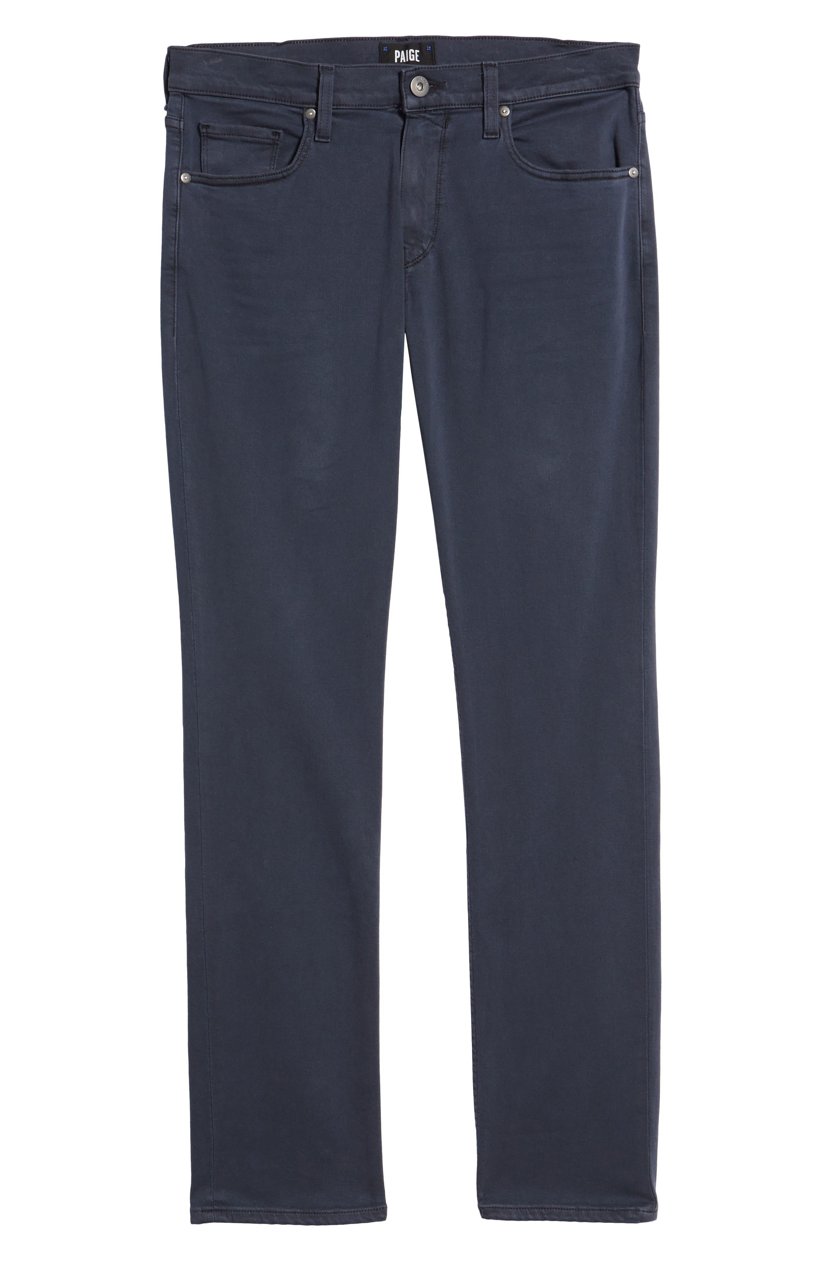 Alternate Image 6  - PAIGE Transcend - Federal Slim Straight Leg Jeans (Vintage Deep Sea)