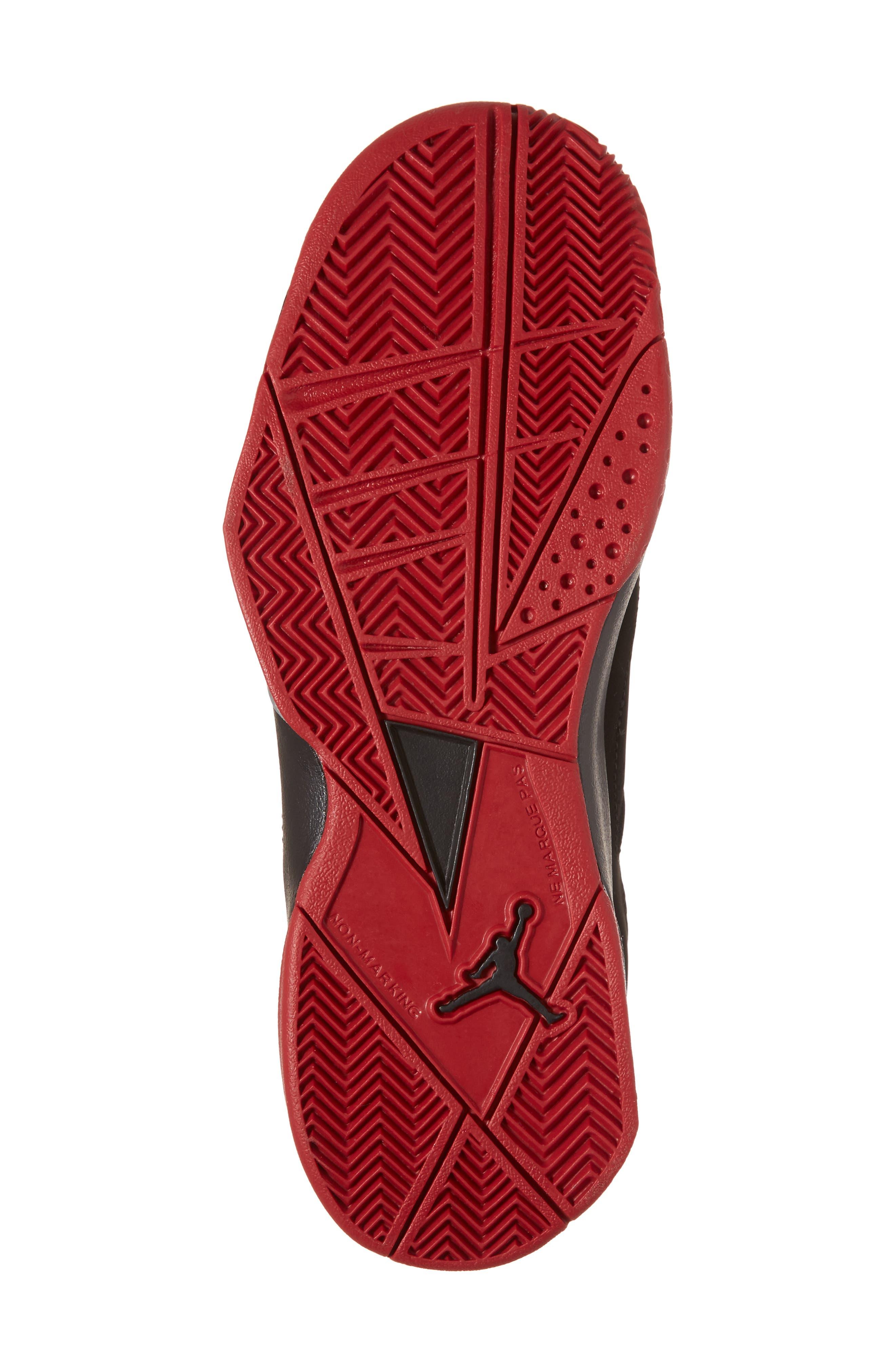 True Flight BG High Top Sneaker,                             Alternate thumbnail 6, color,                             Black/ Gym Red/ Silver