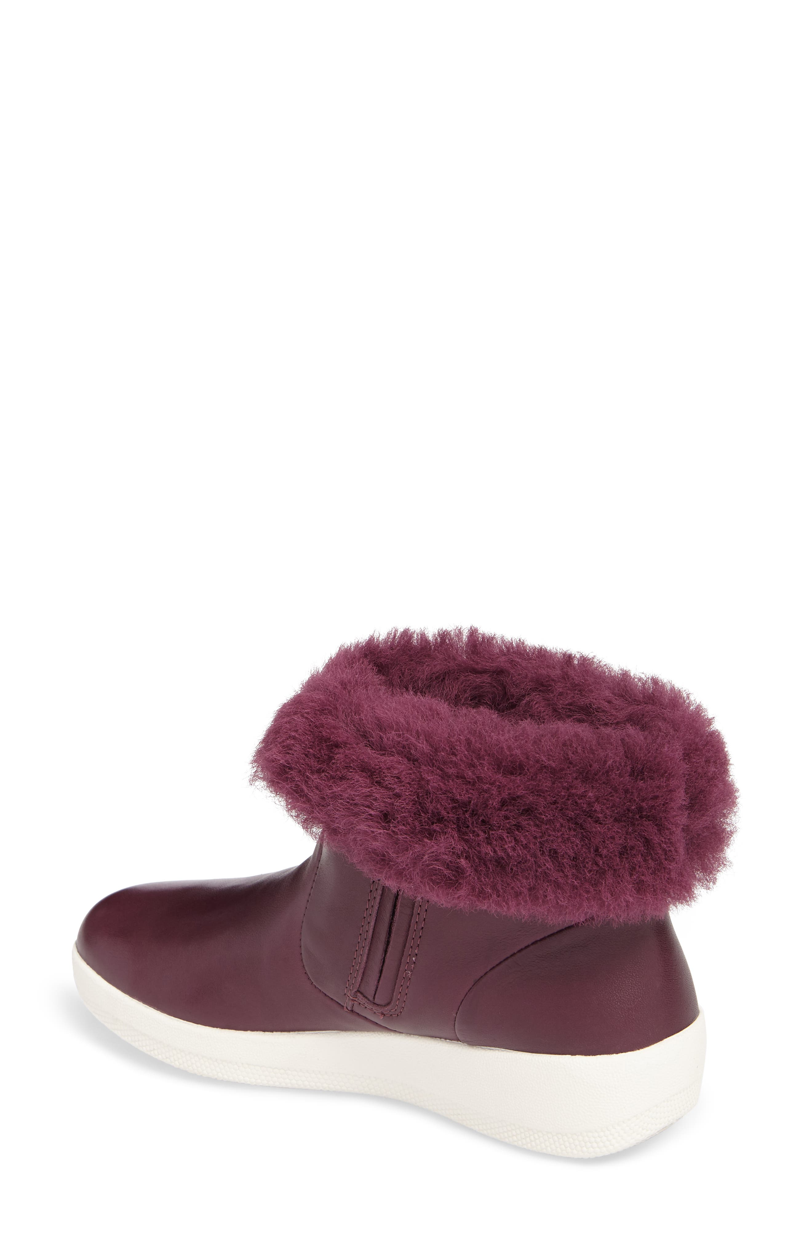 Skatebootie<sup>™</sup> with Genuine Shearling Cuff,                             Alternate thumbnail 2, color,                             Deep Plum