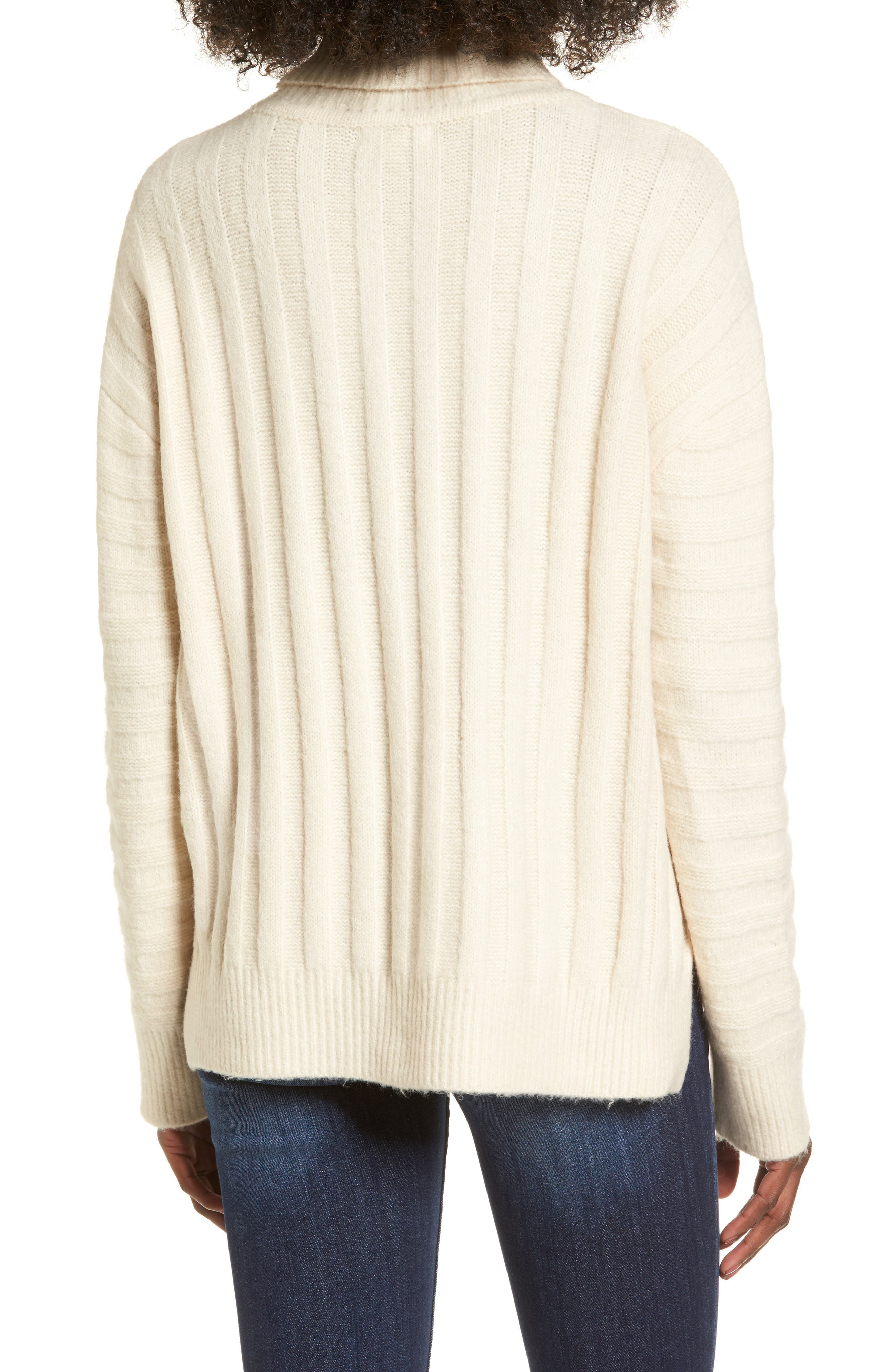 Turtleneck Sweater,                             Alternate thumbnail 2, color,                             Ivory