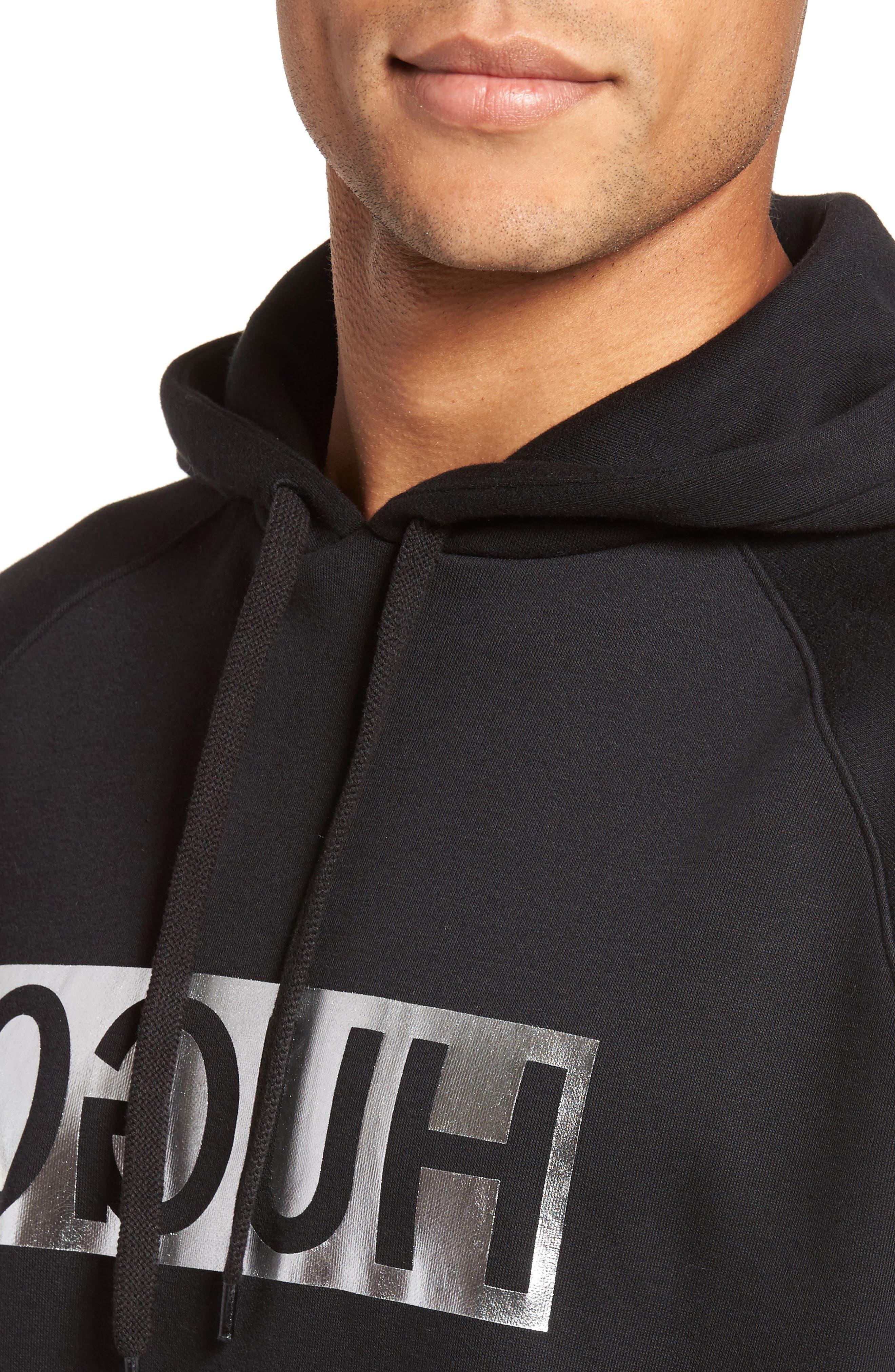 Logo Hoodie,                             Alternate thumbnail 4, color,                             Black