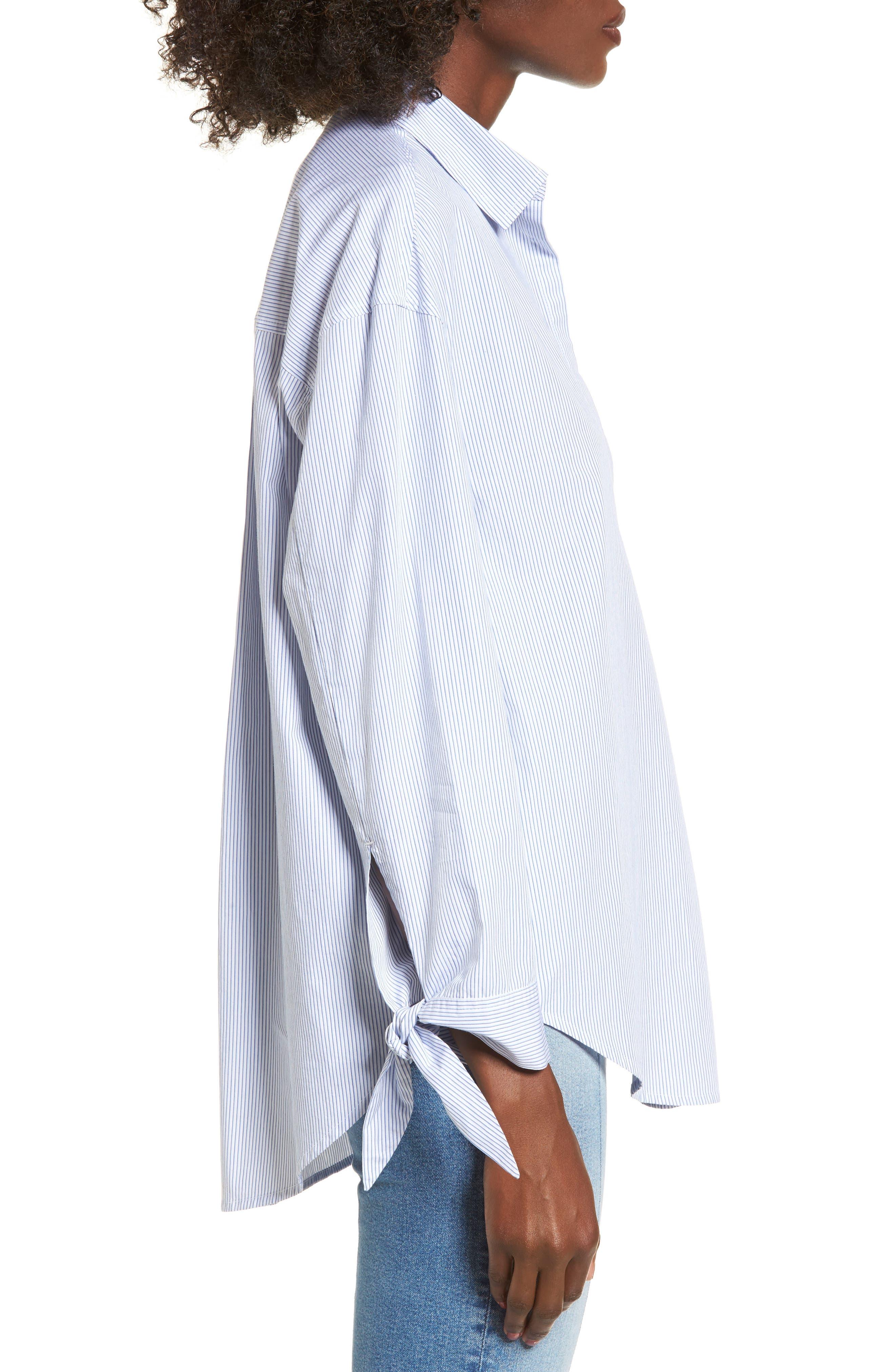Alternate Image 3  - BP. Tie Sleeve Tunic Shirt