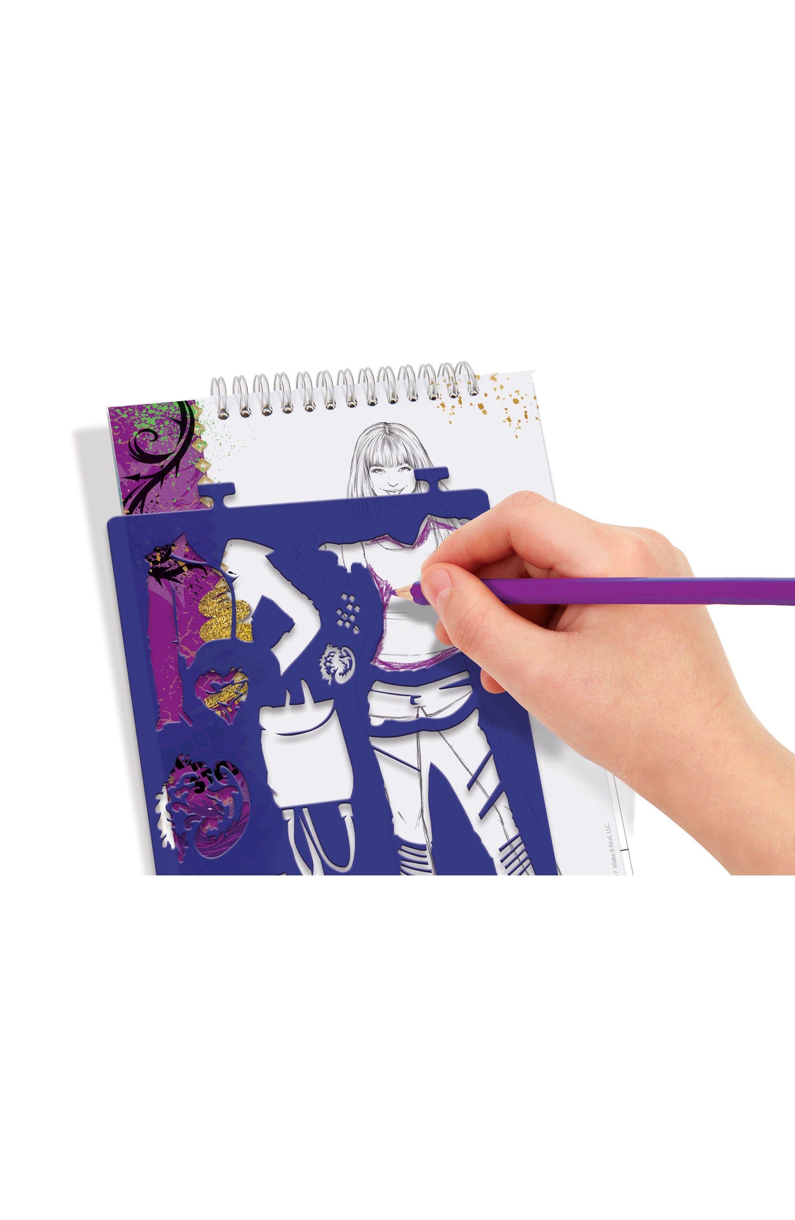 "Disney ""Descendants 2"" Sketchbook,                             Alternate thumbnail 3, color,                             Multi"
