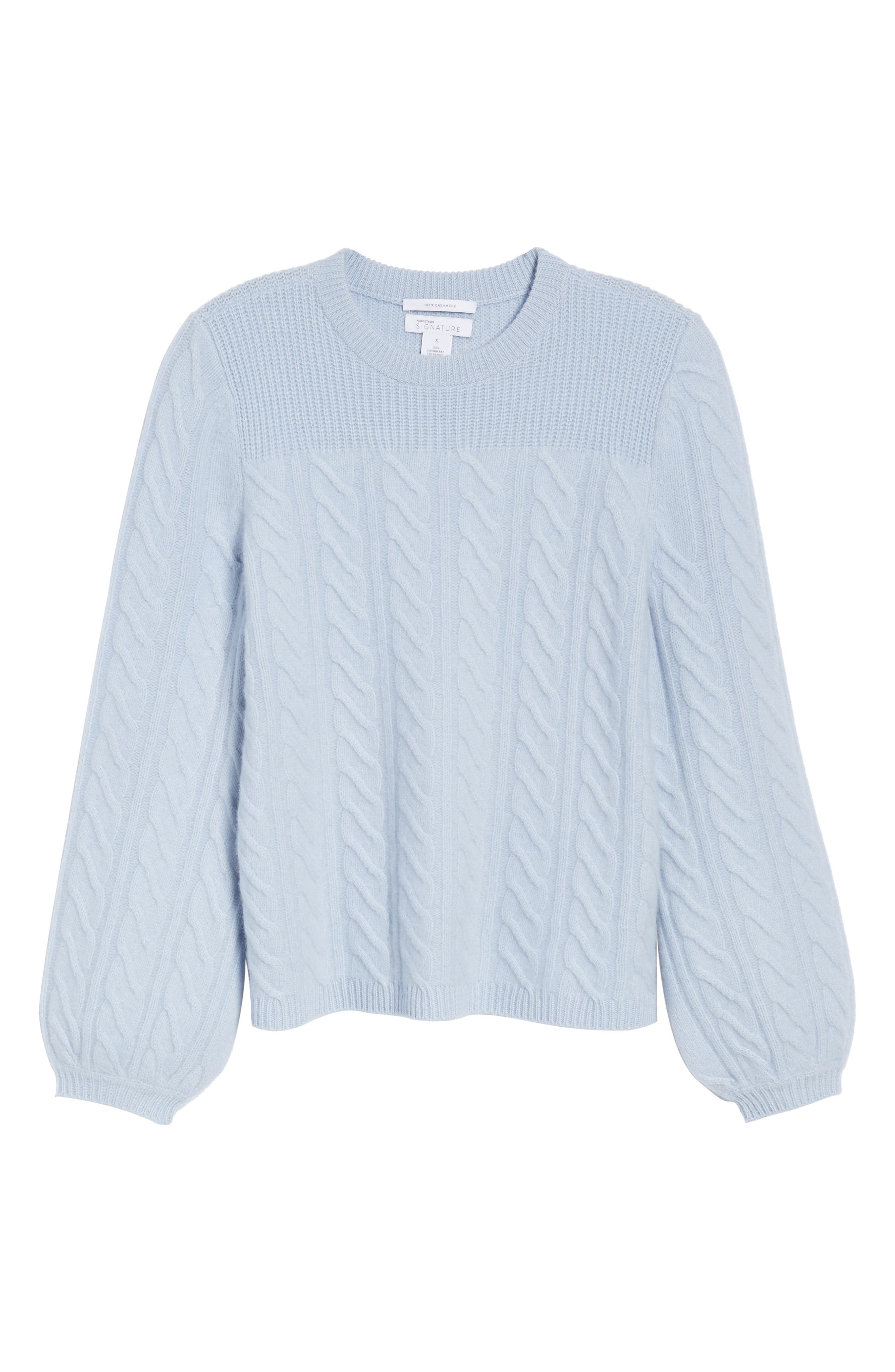 Alternate Image 6  - Nordstrom Signature Cable Cashmere Sweater